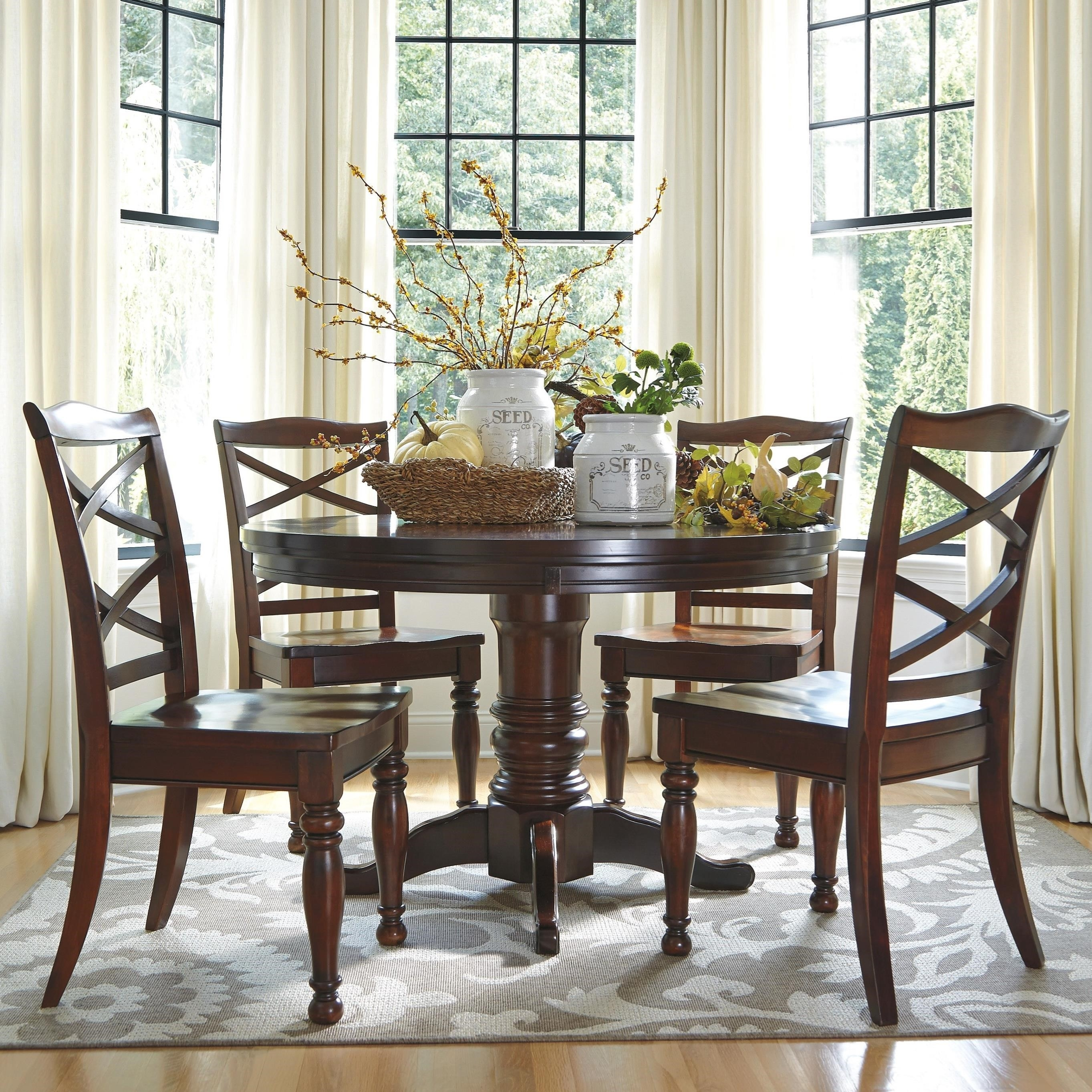 Great Round Dining Room Table In Ashley Furniture Porter 5 Piece Throughout Newest Caden Round Dining Tables (Image 13 of 20)