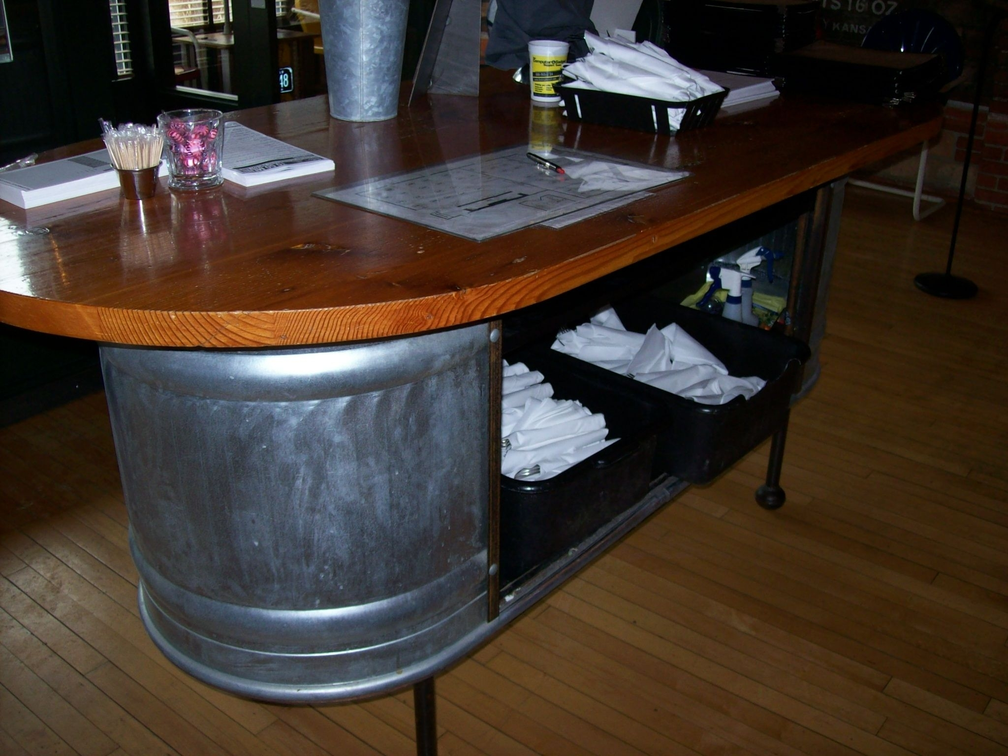 Great Way To Create A Hostess Station Or Check Out Area | Retail Intended For Recent Market 6 Piece Dining Sets With Host And Side Chairs (Image 11 of 20)