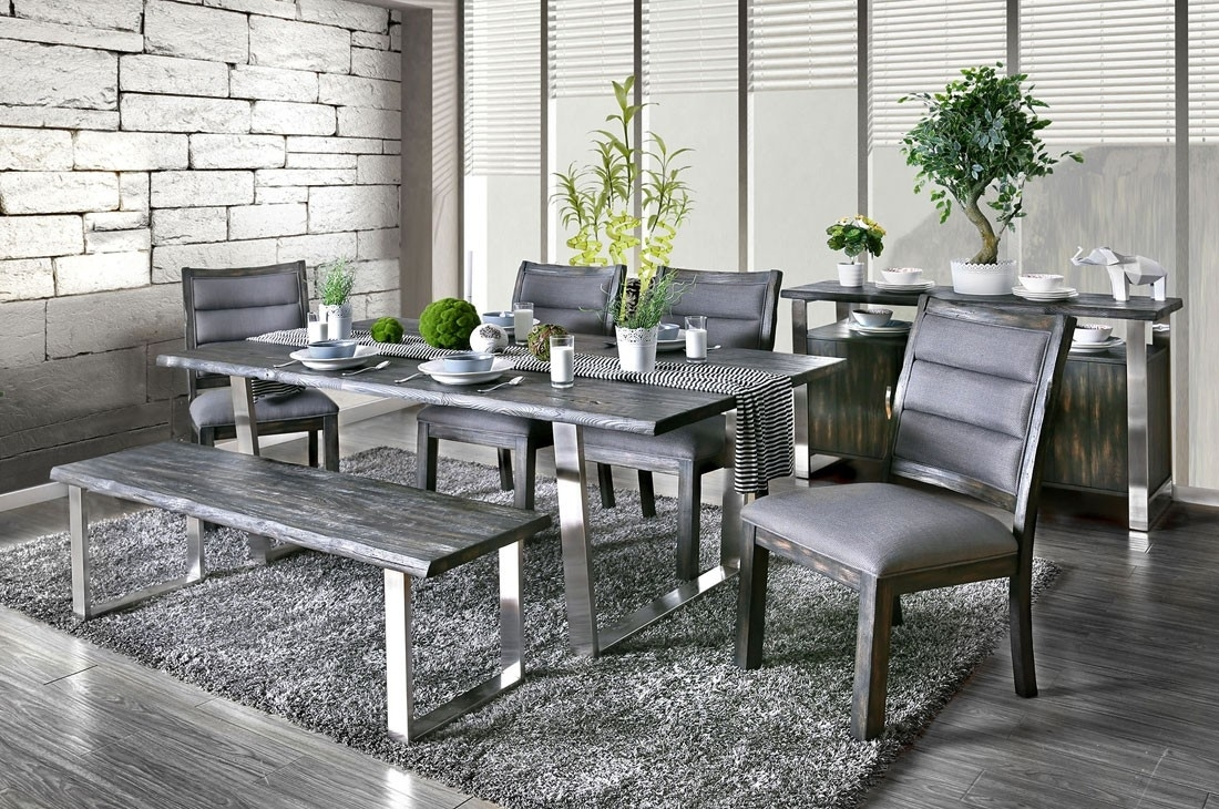 20 Photos Jaxon Grey 6 Piece Rectangle Extension Dining