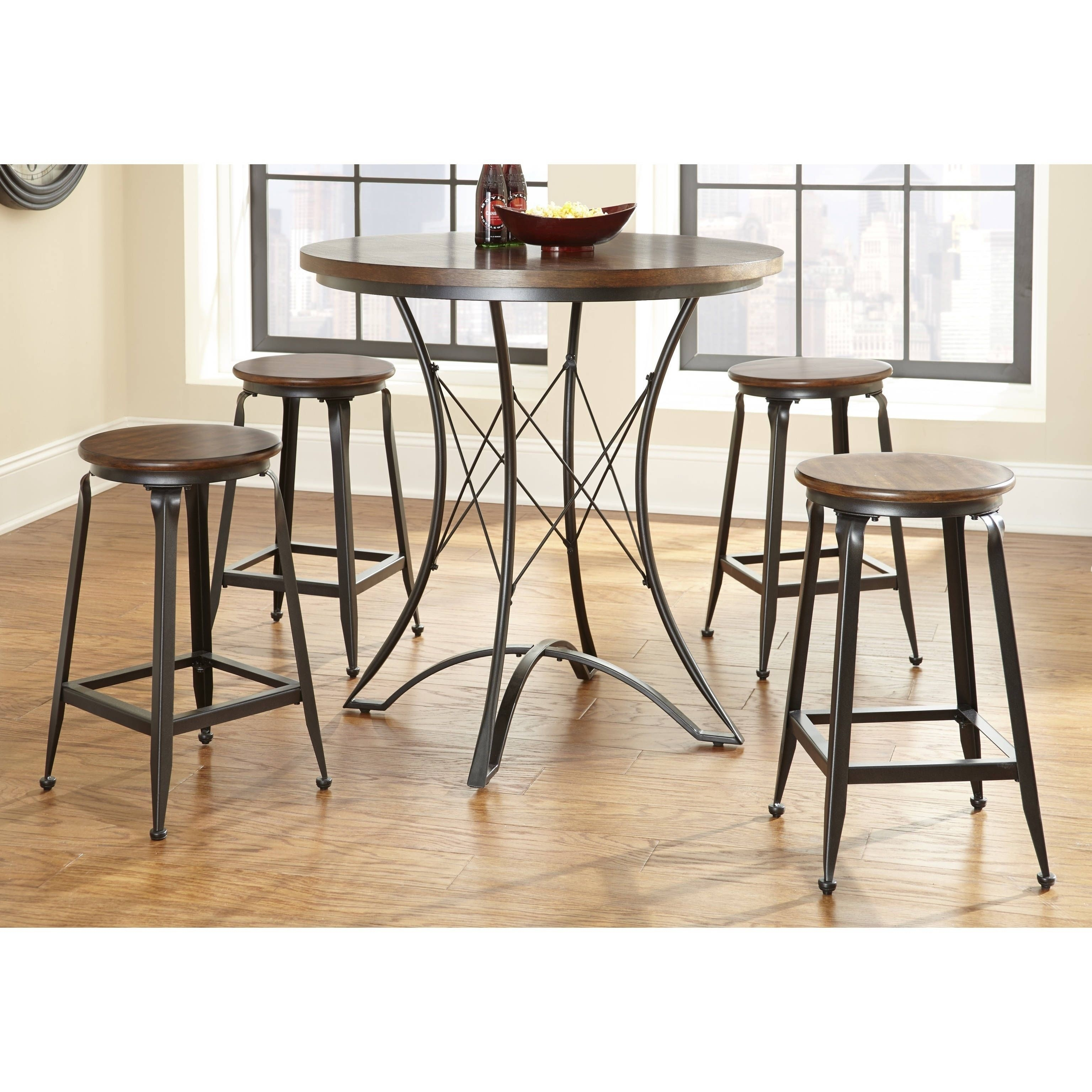Greyson Living Abella Counter Height Pub Table Set (Abella Counter Throughout Most Popular Harper 5 Piece Counter Sets (View 13 of 20)