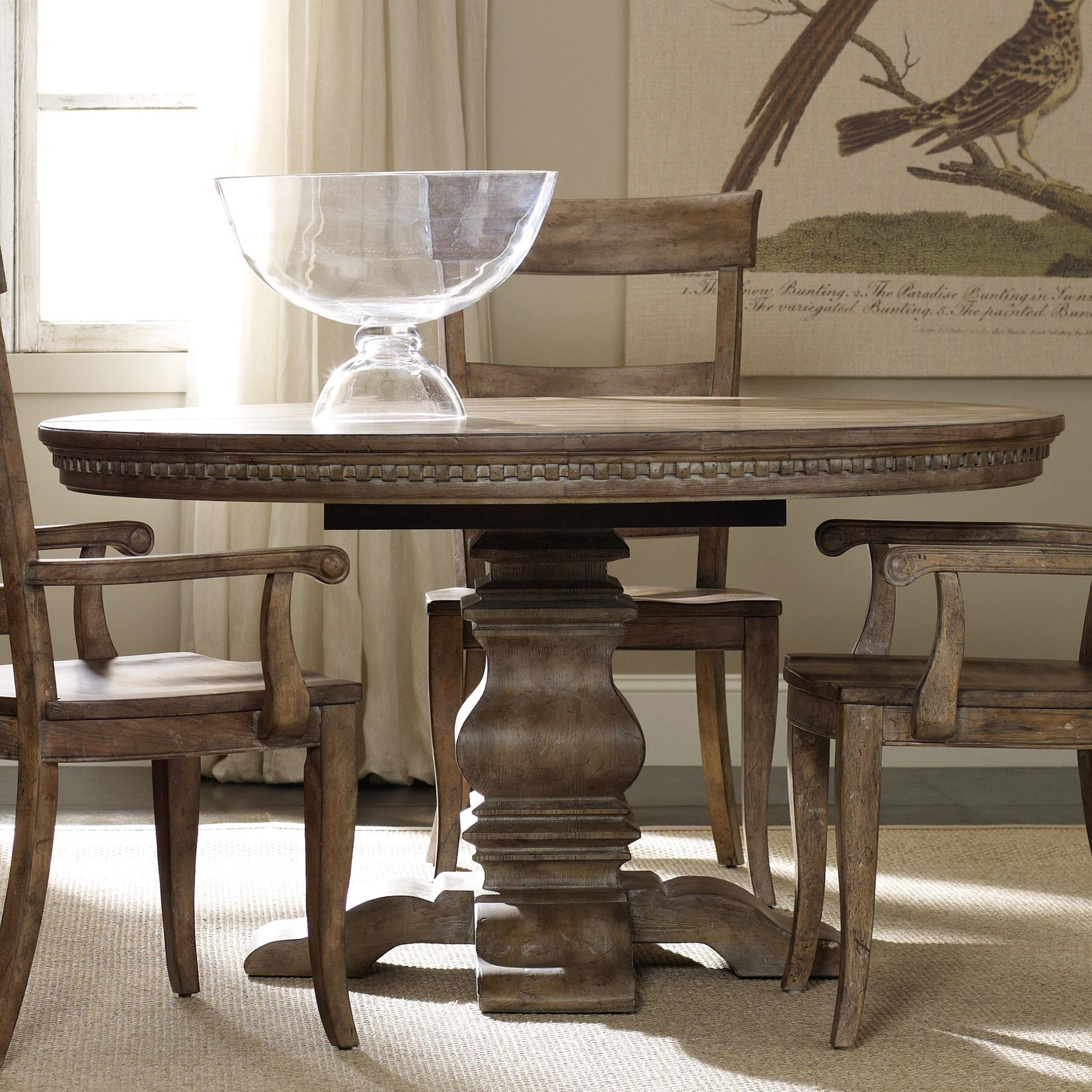 Hamilton Home Sorella Round Dining Table With Pedestal Base And 20 With Recent Jefferson Extension Round Dining Tables (Photo 6 of 20)