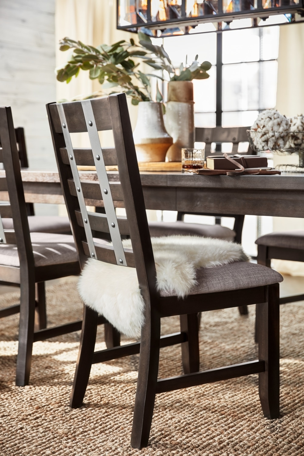 Hampton Dining Table And 6 Side Chairs – Cocoa | Value City With Regard To Most Popular Gavin 6 Piece Dining Sets With Clint Side Chairs (Photo 12 of 20)