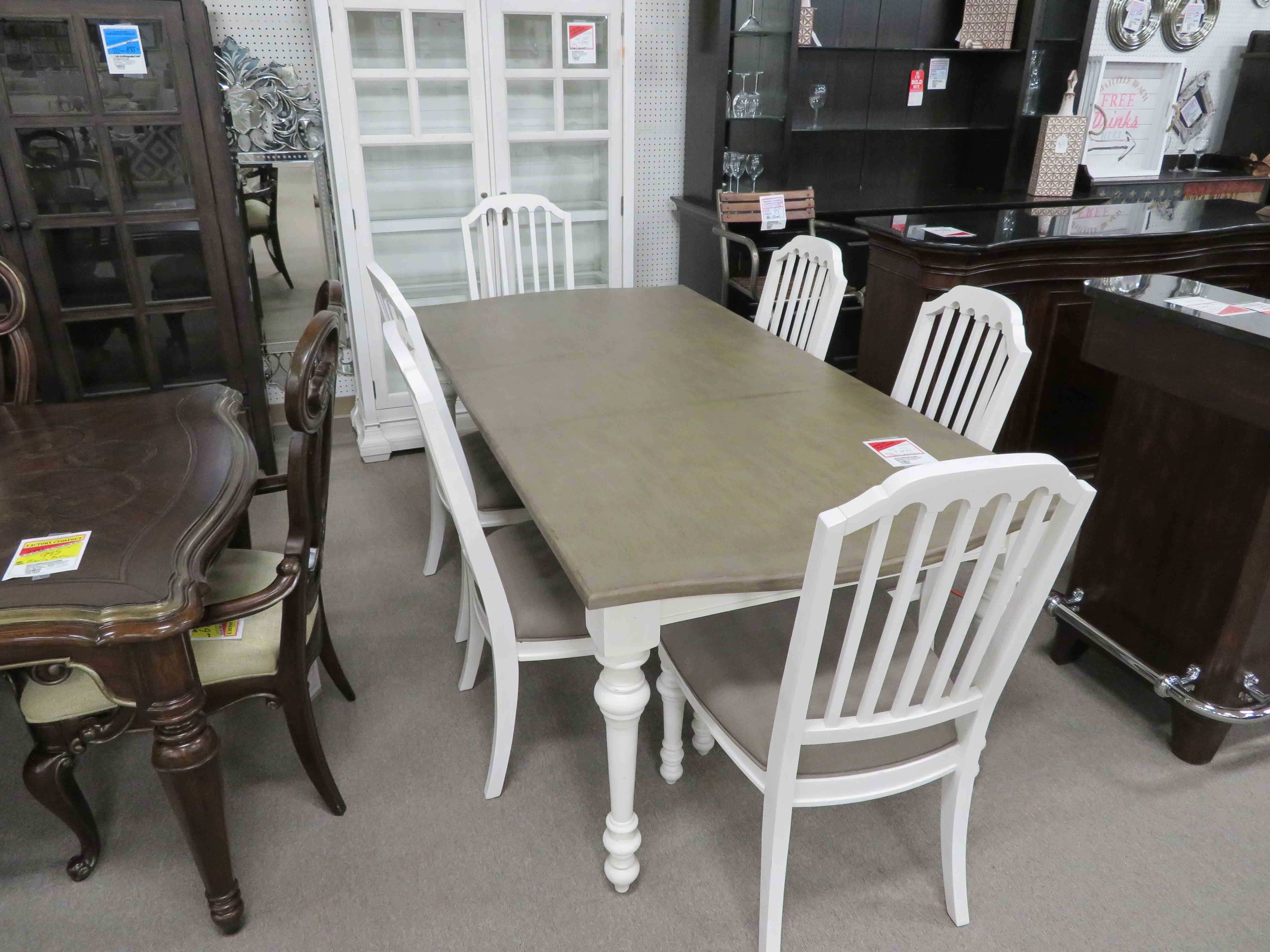 Hancock Park Table & 6 Chairs – Heavner Furniture Market With Best And Newest Market 6 Piece Dining Sets With Side Chairs (Photo 10 of 20)