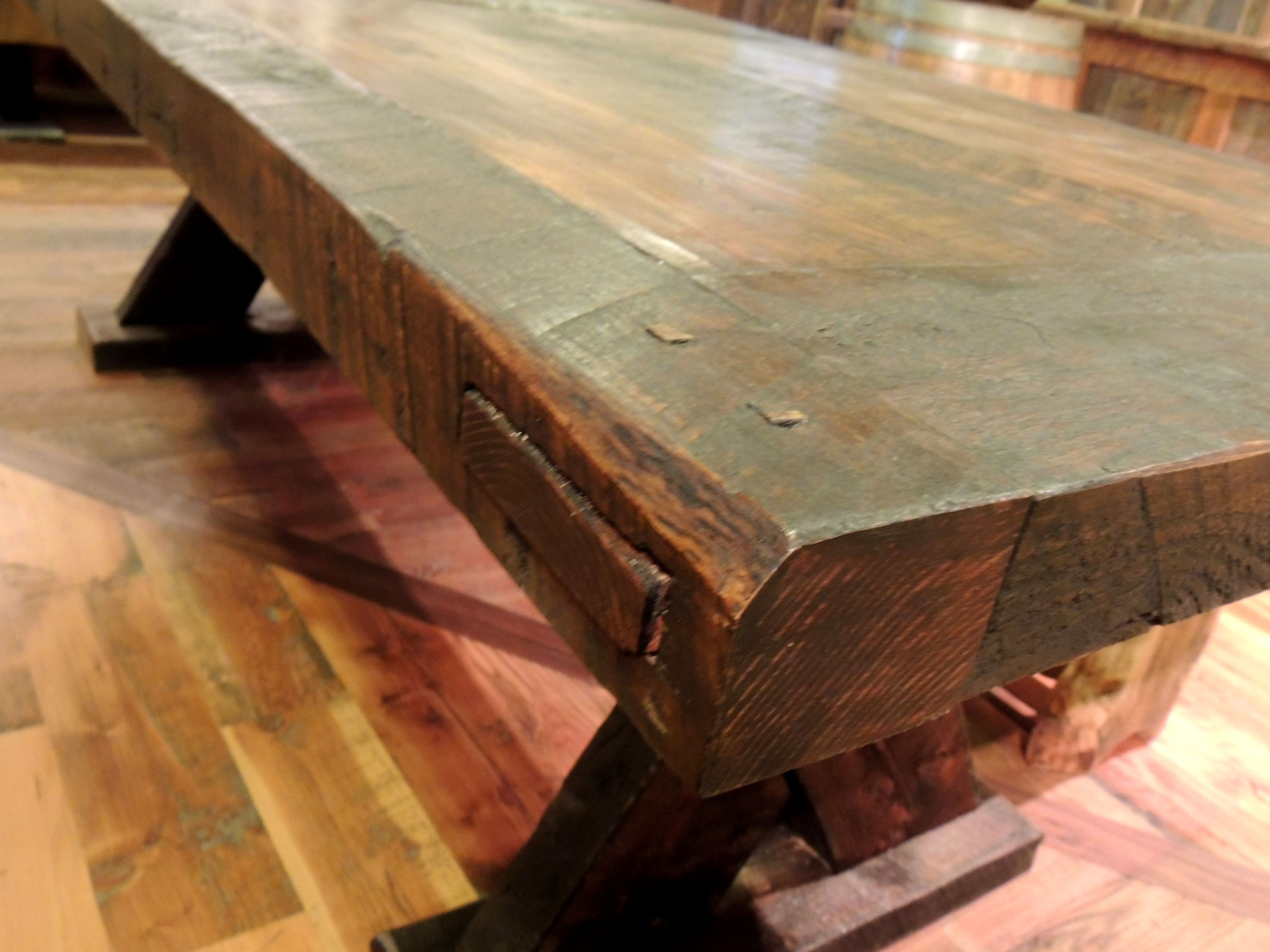 "Handcrafted Rustic Viking Dining Table – 40""x97"" – Wood From The Pertaining To Most Recently Released Bale Rustic Grey Dining Tables (Photo 19 of 20)"