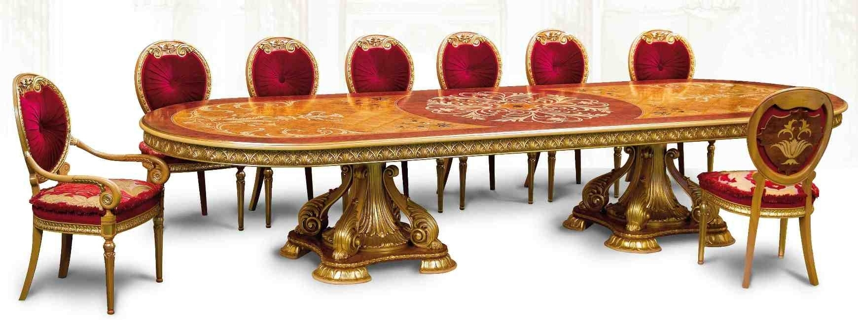 Handmade Dining Tables Luxury Furniture Empire Style Table Endearing With Regard To Best And Newest Grady Round Dining Tables (View 9 of 20)