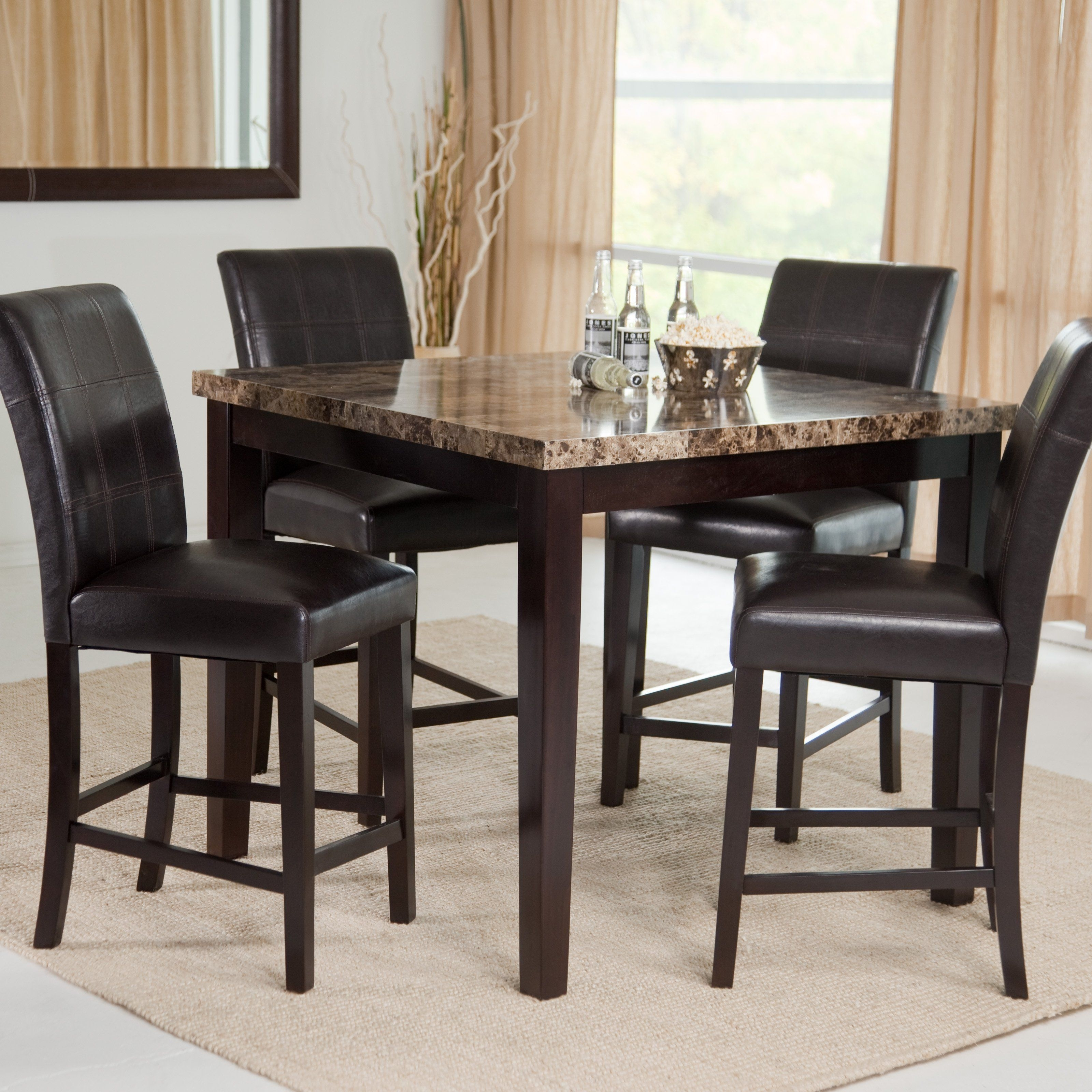 Have To Have It. Palazzo 5 Piece Counter Height Dining Set – $ (Image 11 of 20)
