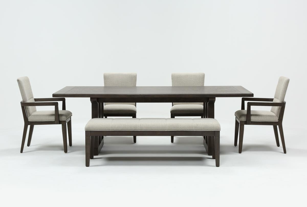 Helms 6 Piece Rectangle Dining Set | Living Spaces With 2017 Helms Round Dining Tables (View 2 of 20)