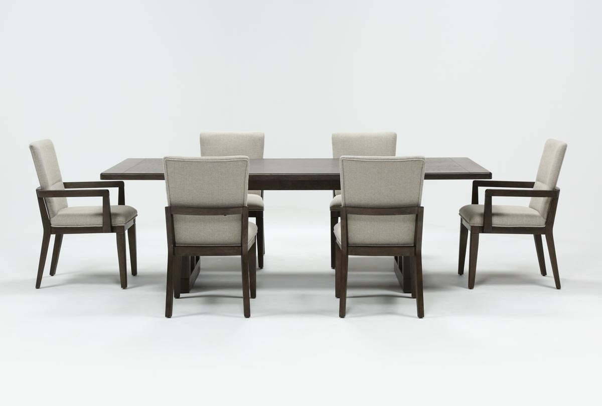 Helms 7 Piece Rectangle Dining Set | Living Spaces In Latest Helms Rectangle Dining Tables (Image 11 of 20)