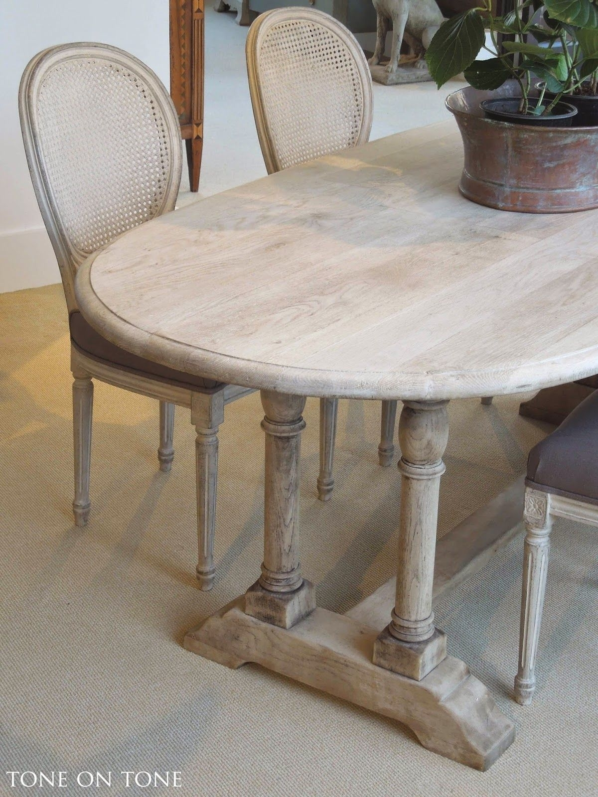 Here Is A 19Th Century Belgian Bleached Oak Dining / Kitchen Table In Best And Newest Helms 5 Piece Round Dining Sets With Side Chairs (View 7 of 20)