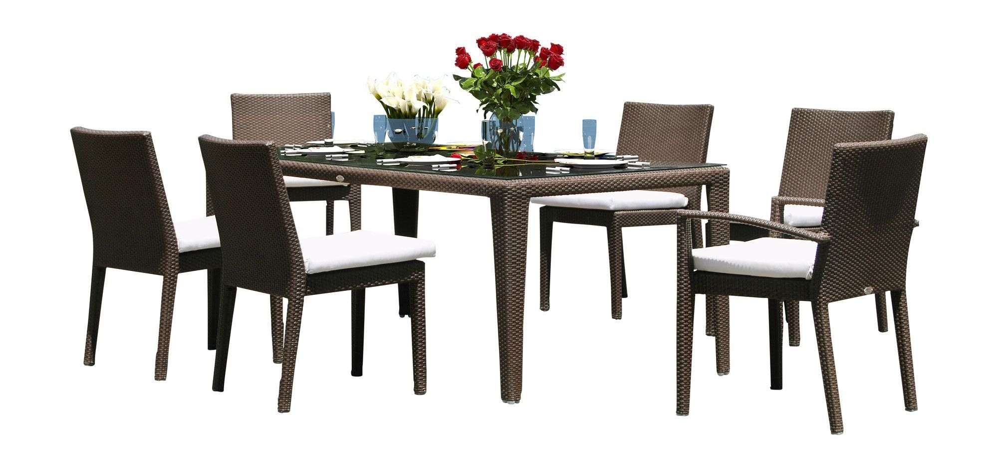 Hicklin 7 Piece Dining Set With Cushions | Outdoor Products And Products Intended For 2017 Chapleau Ii 7 Piece Extension Dining Tables With Side Chairs (Image 17 of 20)