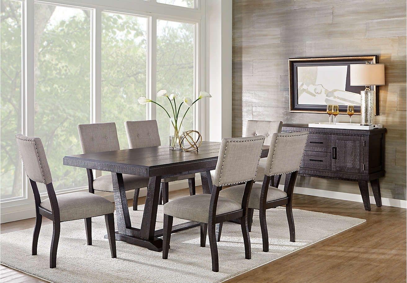 Hill Creek Black 5 Pc Rectangle Dining Room | Home Design/decor Pertaining To Best And Newest Palazzo 7 Piece Rectangle Dining Sets With Joss Side Chairs (View 9 of 20)