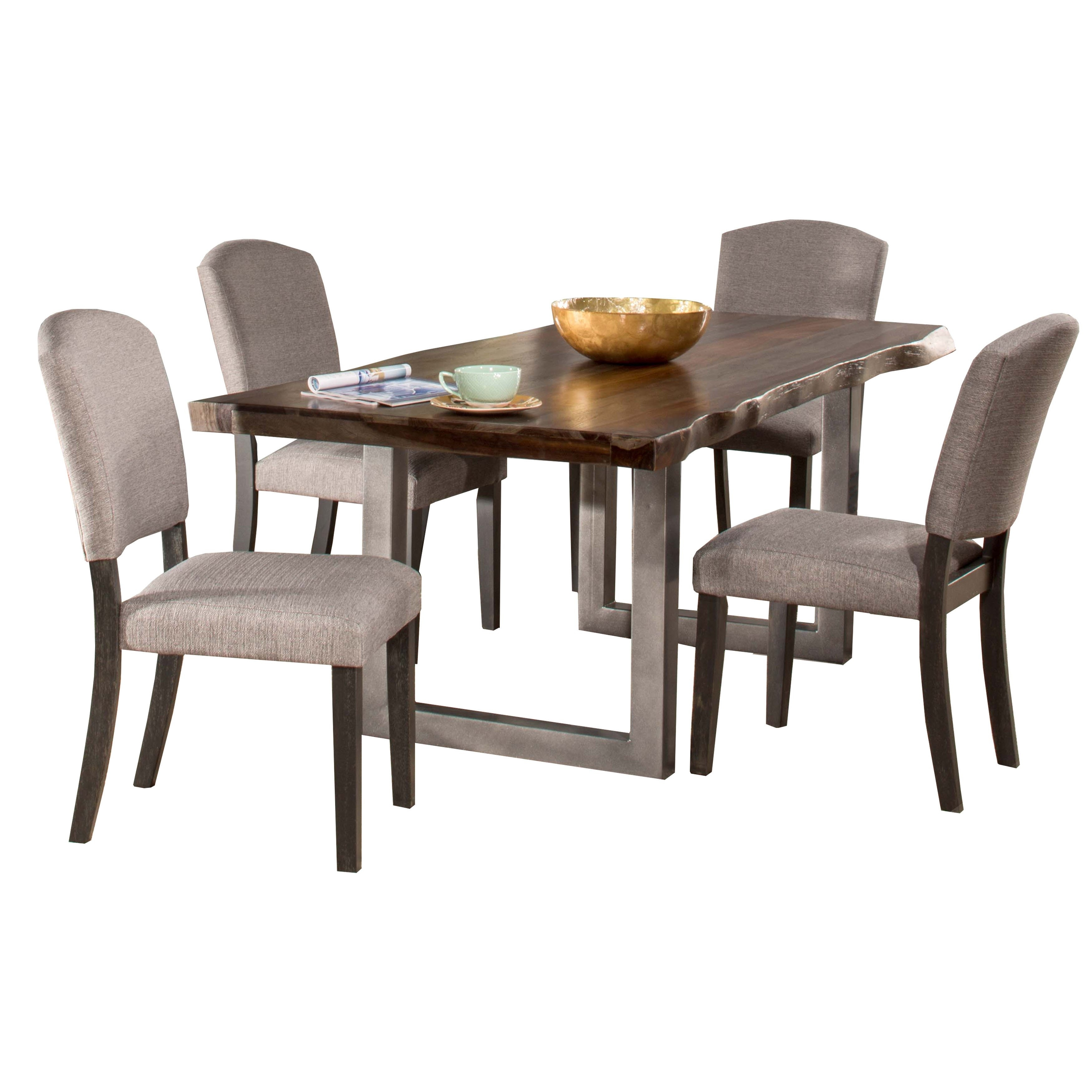 Hillsdale Furniture Emerson Grey Sheesham 5 Piece Rectangular Dining Pertaining To Best And Newest Caden 6 Piece Rectangle Dining Sets (Image 10 of 20)