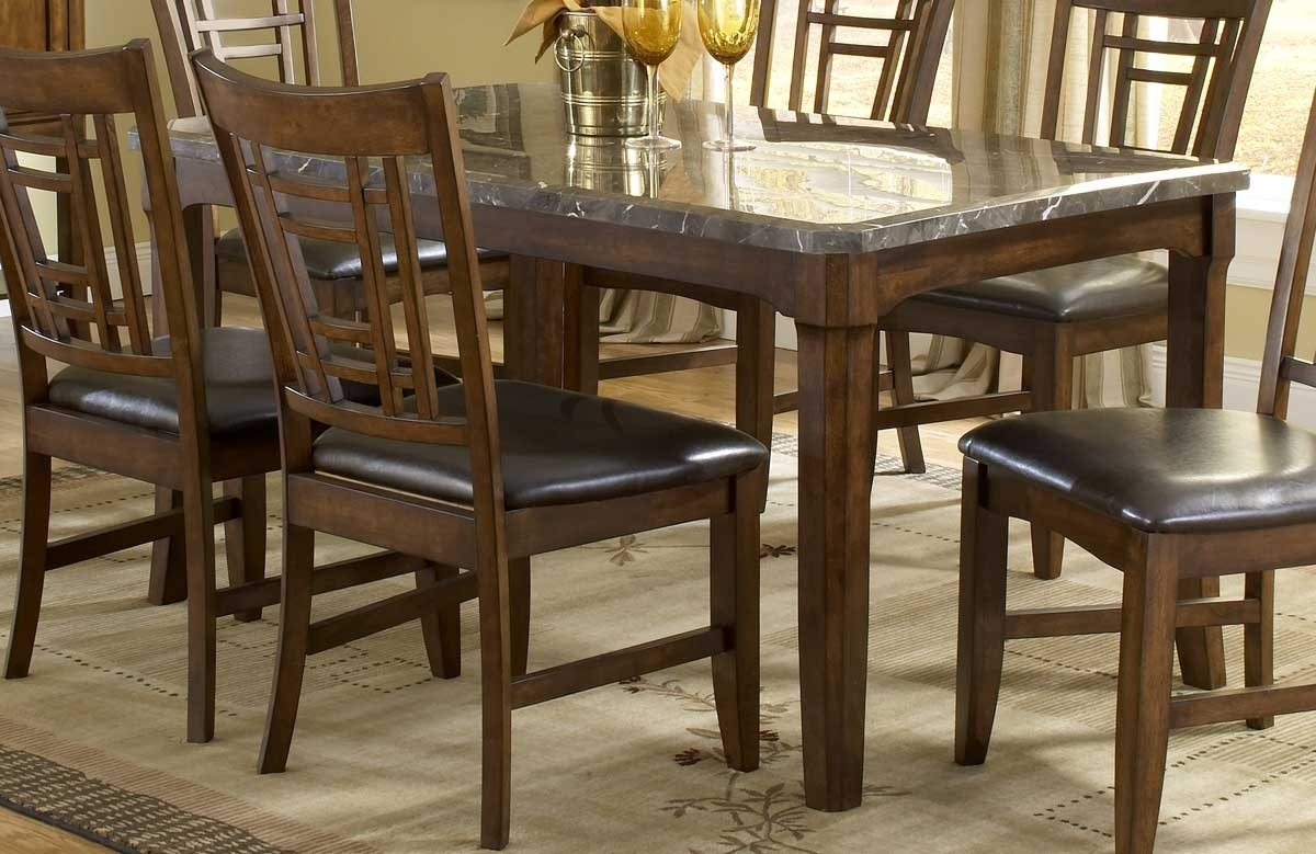 Hillsdale Patterson Rectangle Marble Top Dining Table 4078 814 Within Most Popular Patterson 6 Piece Dining Sets (View 8 of 20)