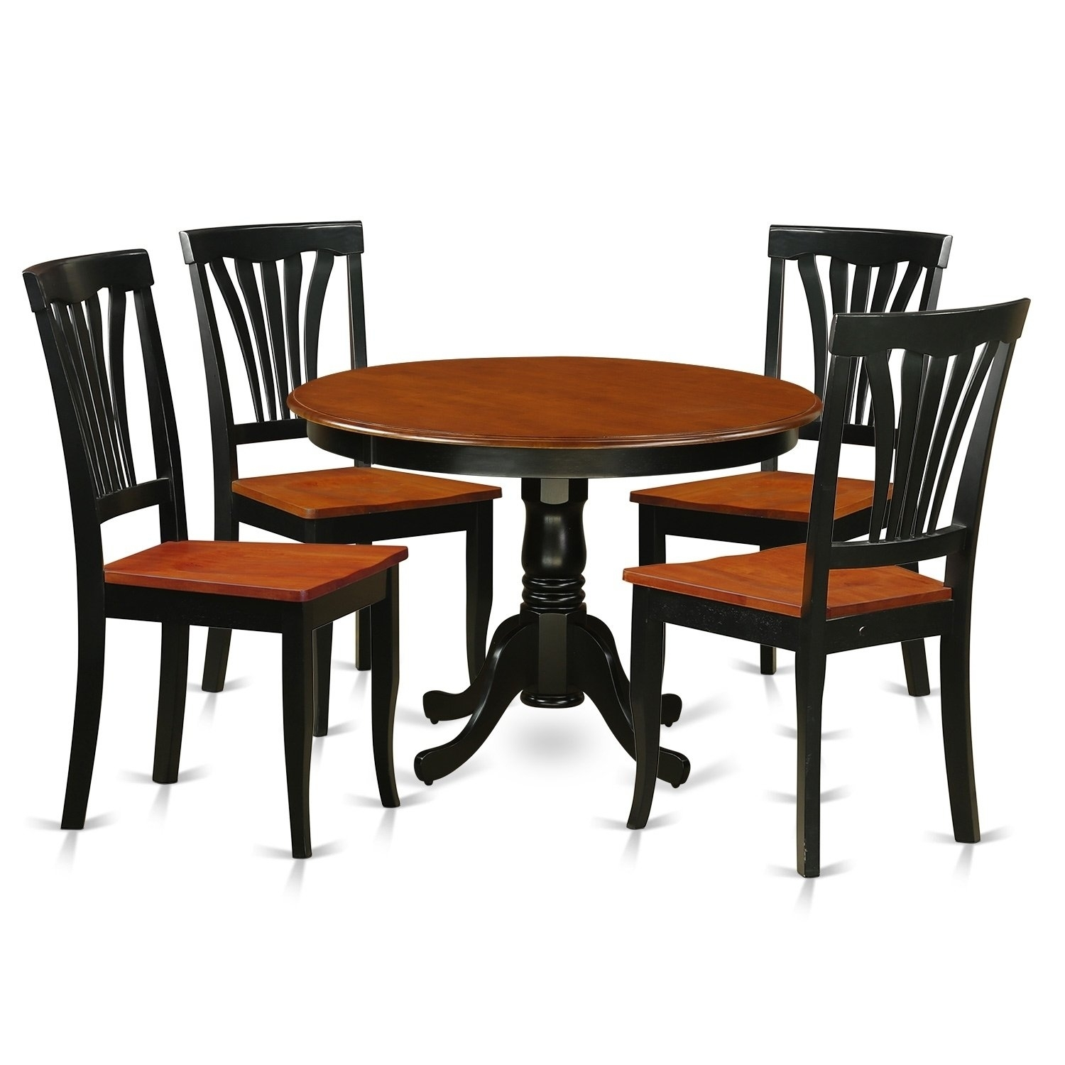 Hlav5 W 5 Pc Table Set With A Dinette Table And 4 Dining Chairs Throughout Most Current Caden 5 Piece Round Dining Sets With Upholstered Side Chairs (View 4 of 20)