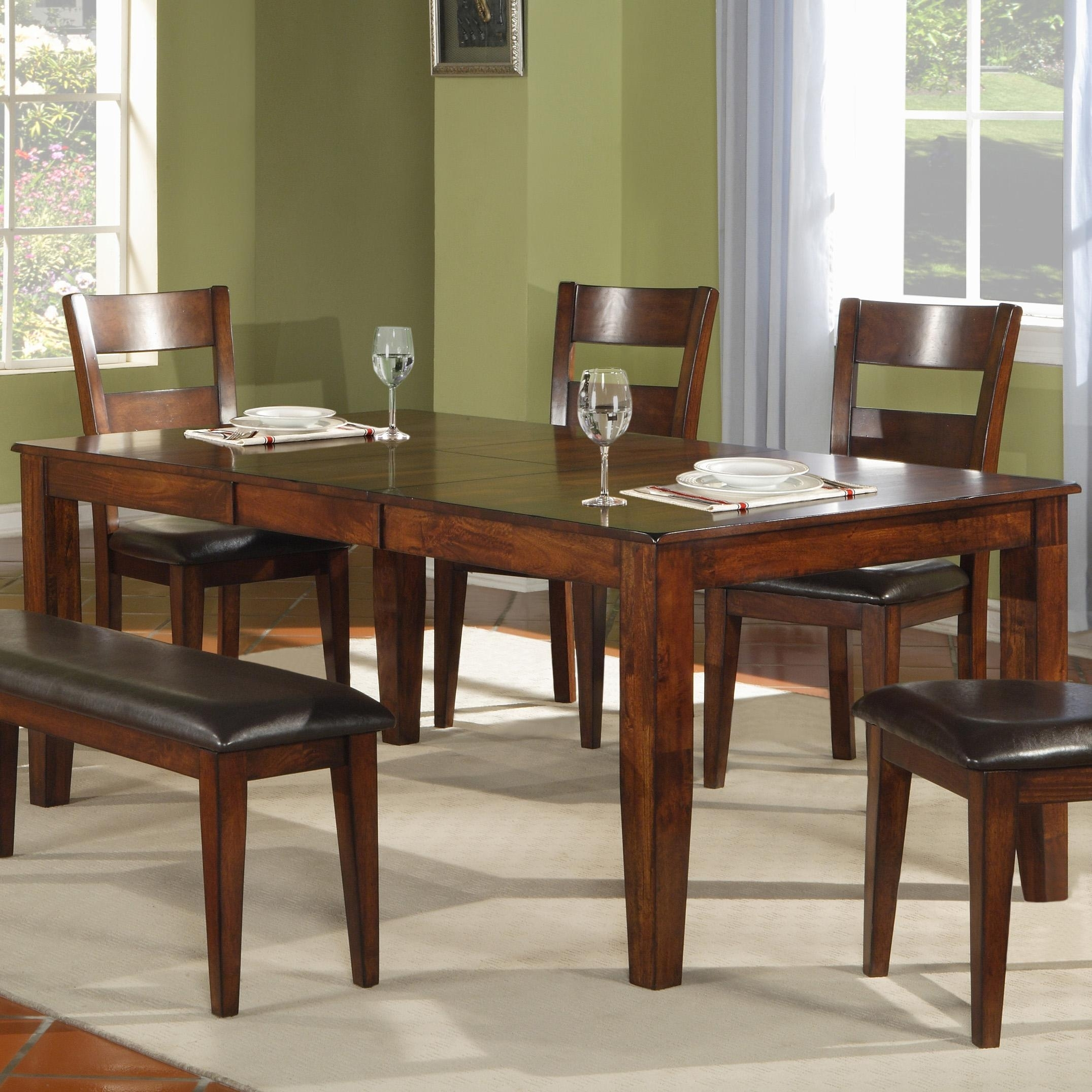 Holland House 1279 Modern Solid Mango Wood Dining Table | Fmg Regarding 2018 Mango Wood/iron Dining Tables (Image 6 of 20)