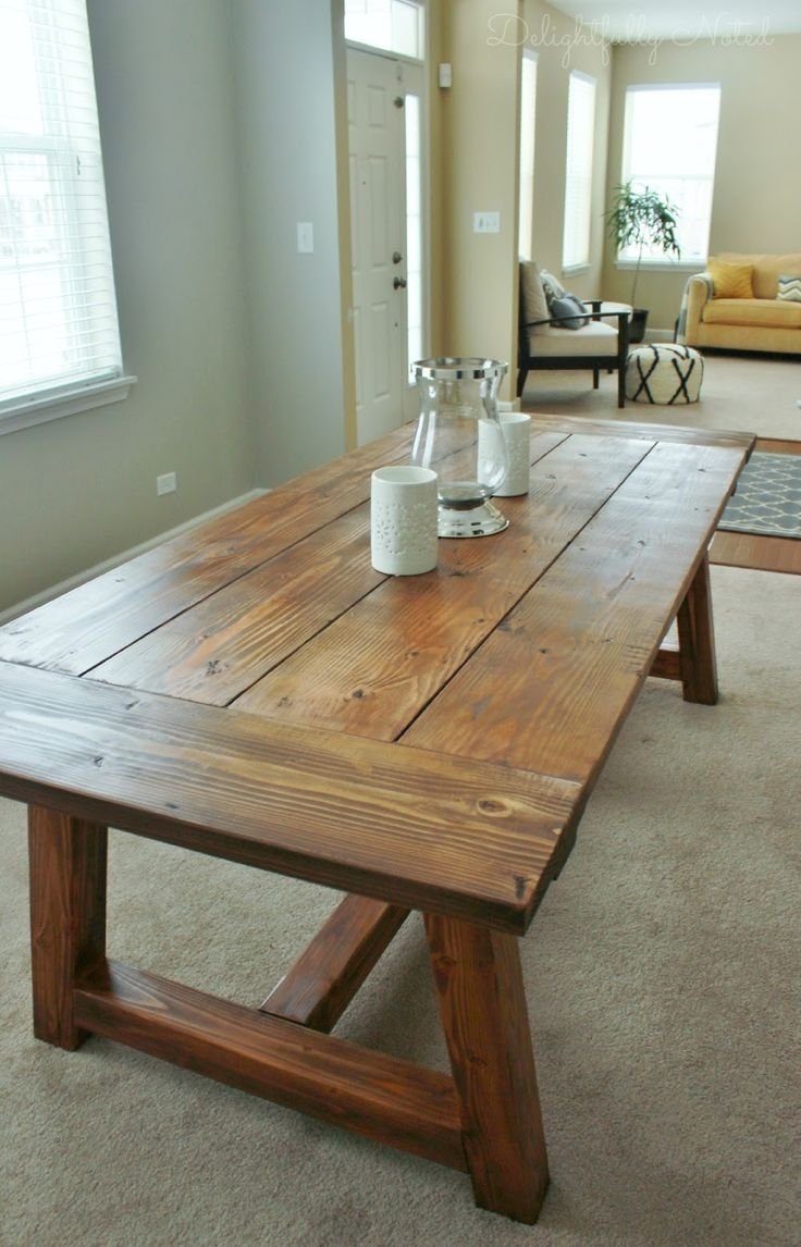 Holy Cannoli! We Built A Farmhouse Dining Room Table (View 2 of 20)