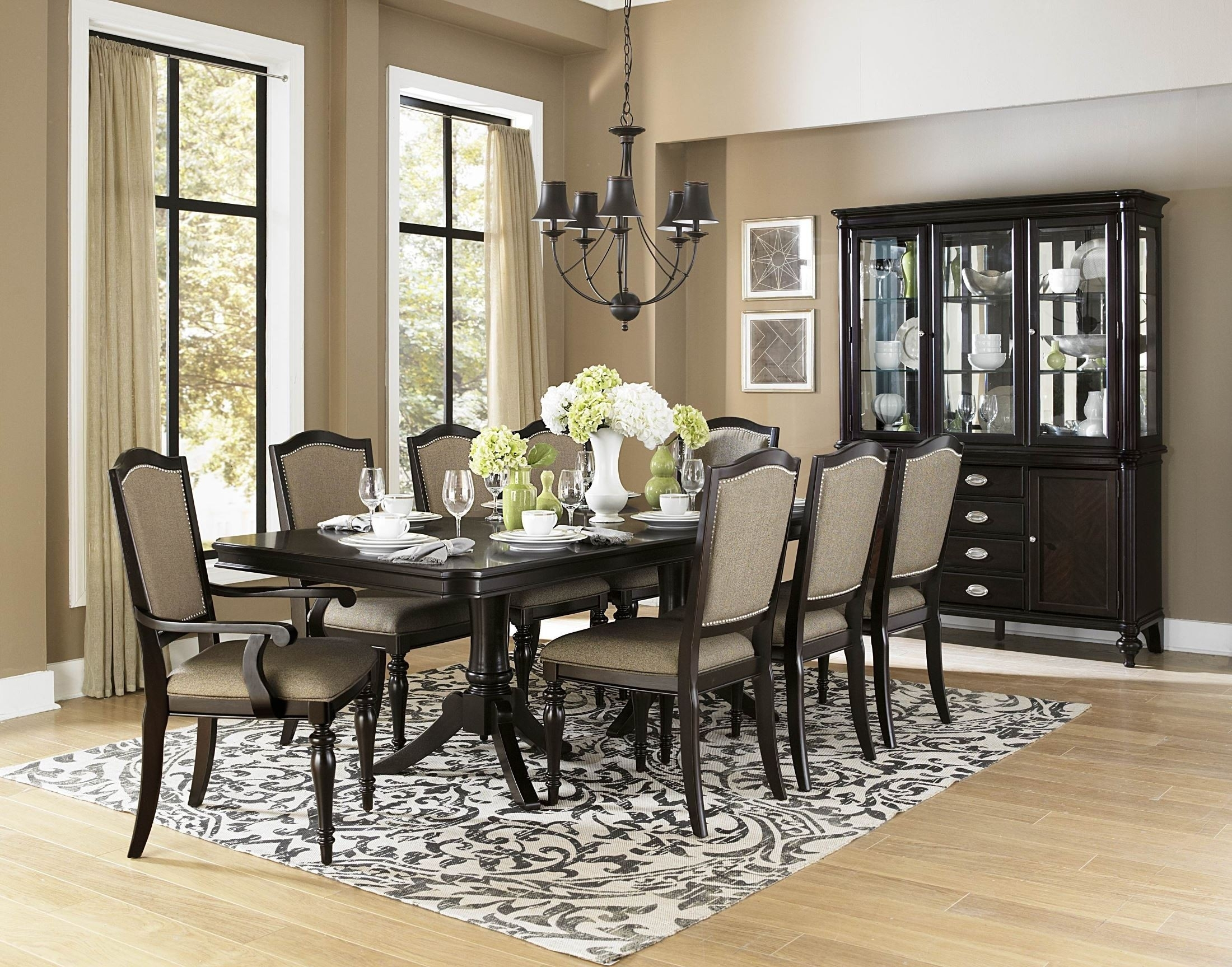 Homelegance Marston Rectangular Extendable Dining Room Set – Marston Regarding Most Up To Date Craftsman 7 Piece Rectangle Extension Dining Sets With Arm & Side Chairs (Image 10 of 20)