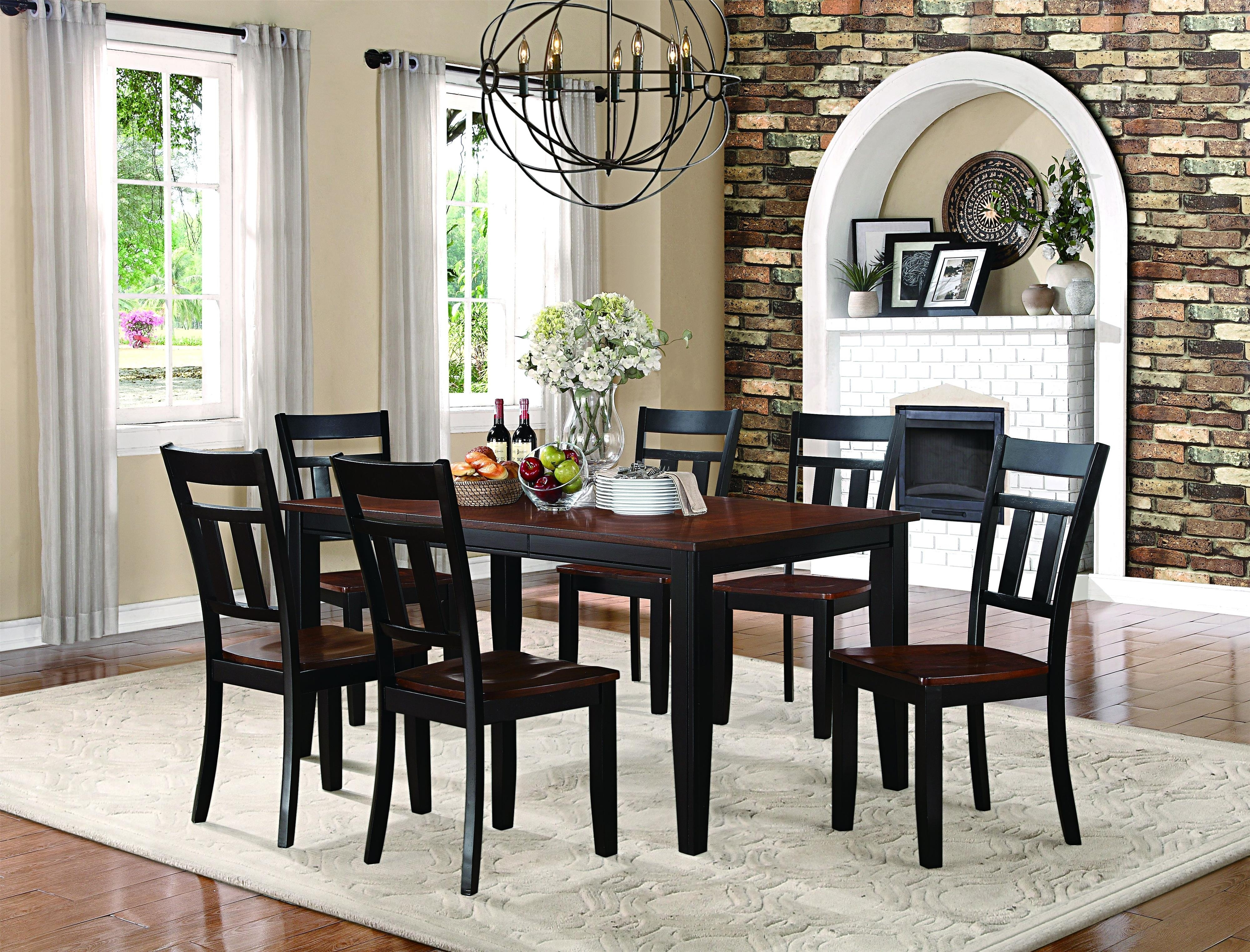 Homelegance Westport 7 Piece Dining Set | Northeast Factory Direct Throughout Most Up To Date Caden 5 Piece Round Dining Sets (Photo 11 of 20)