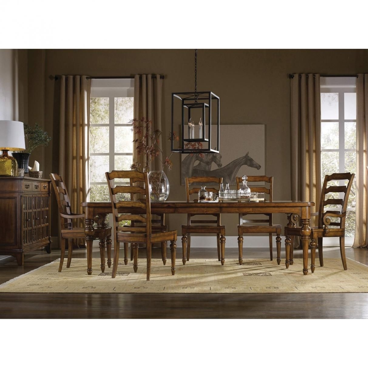"""Hooker Furniture Tynecastle 9 Piece Rectangle Dining Set 