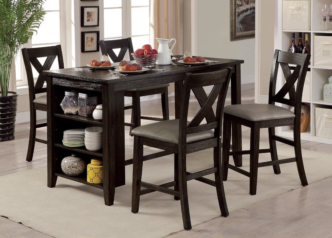 Hornbeck Counter Height Dining Table | Dining, Interiors And Kitchens For Recent Jameson Grey 5 Piece Counter Sets (Image 7 of 20)