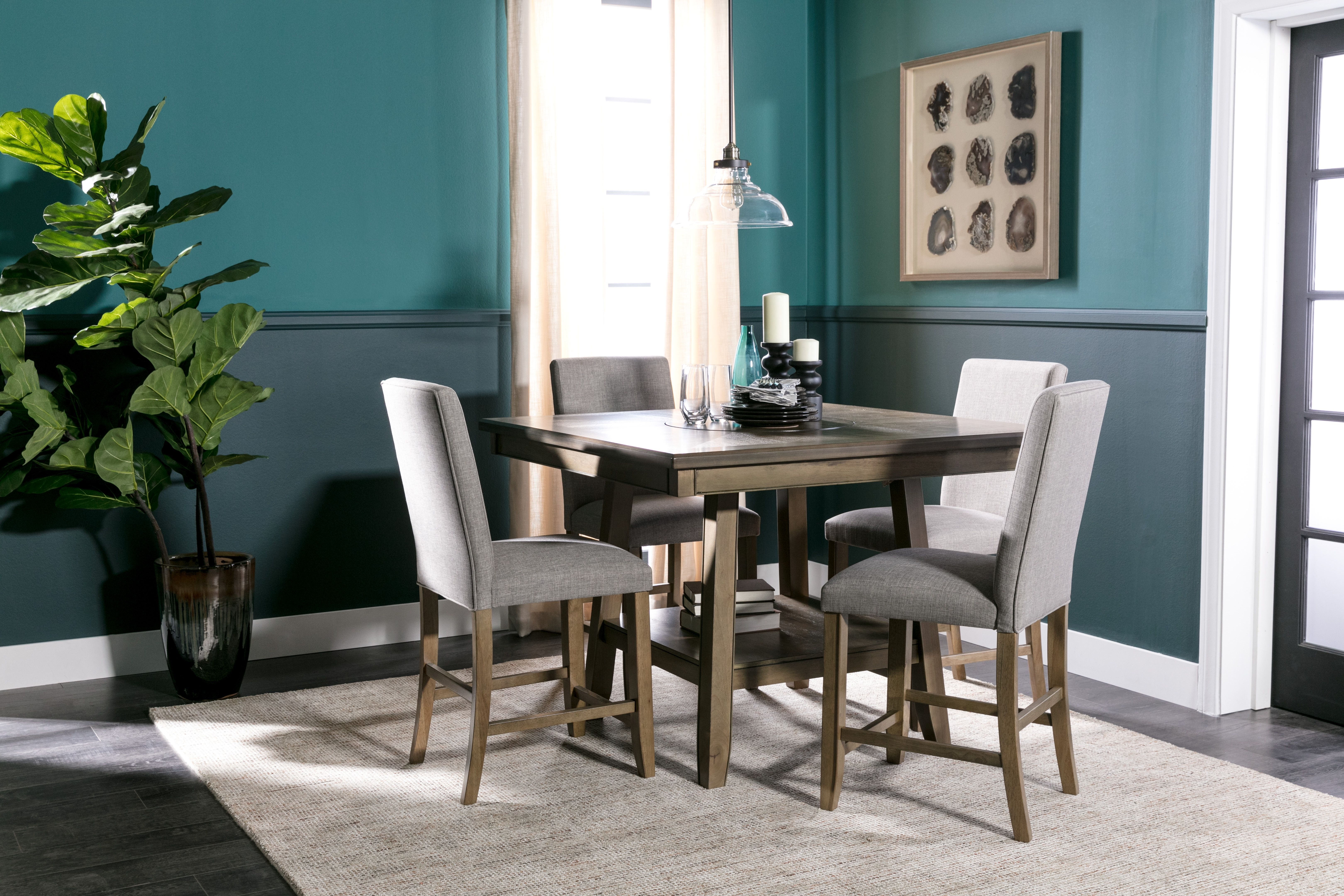 Hyland 5 Piece Counter Set With Stools | Studio 7 Collection For Most Recently Released Jameson Grey 5 Piece Counter Sets (Photo 16 of 20)