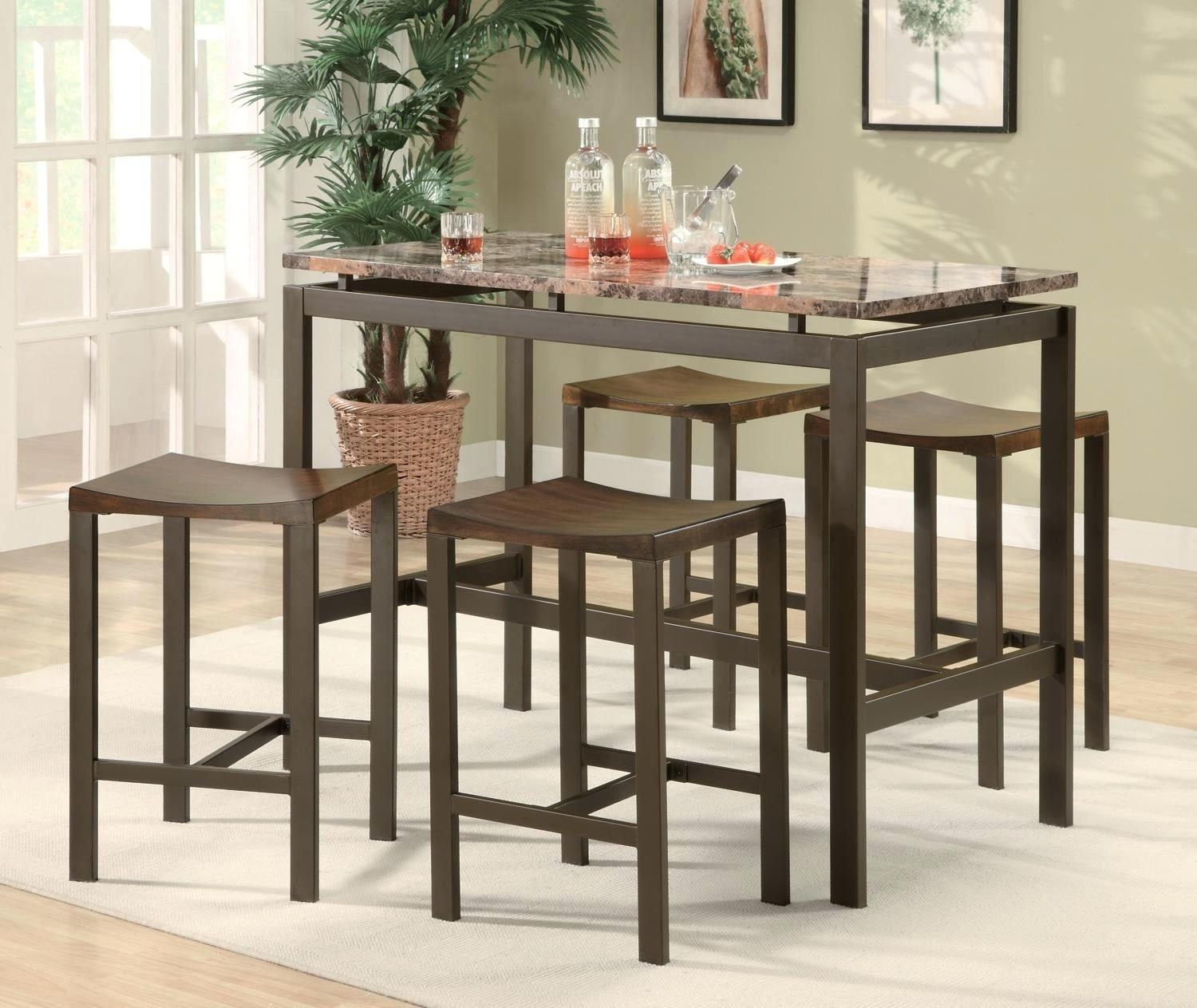 Hyland Counter Height Dining Room Table – Ocane Within Best And Newest Hyland 5 Piece Counter Sets With Stools (Image 10 of 20)