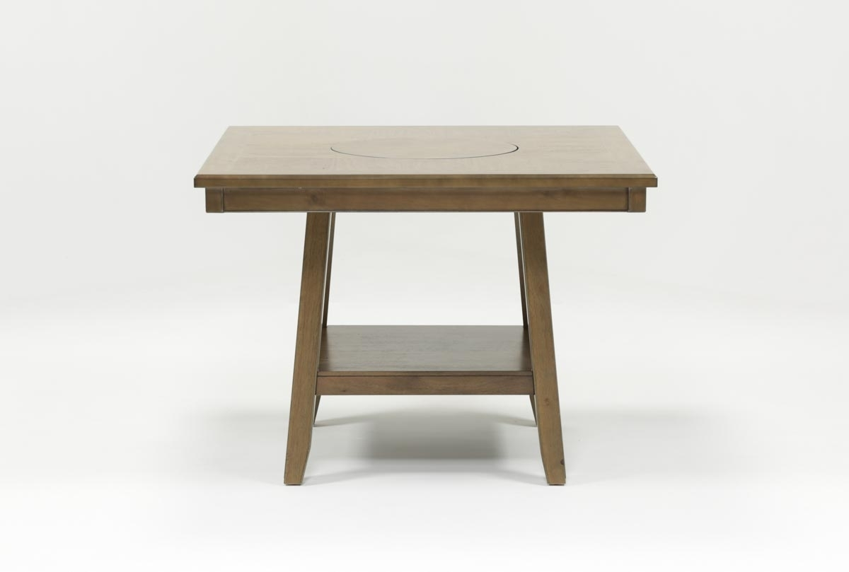 Hyland Counter Table | Living Spaces In Most Recent Hyland 5 Piece Counter Sets With Stools (Image 11 of 20)