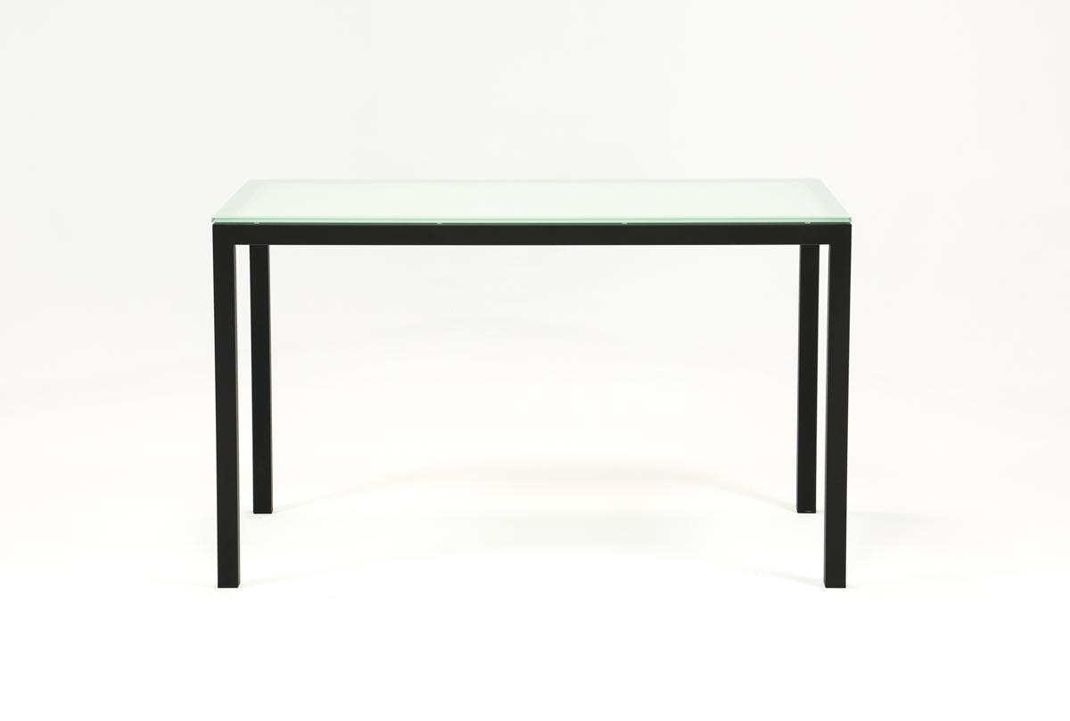 Featured Image of Ina Matte Black 60 Inch Counter Tables With Frosted Glass