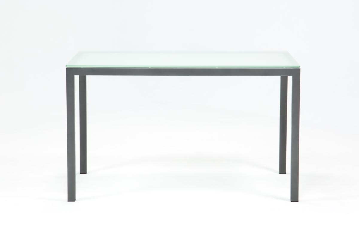 Ina Pewter 60 Inch Counter Table W/frosted Glass | Living Spaces With Regard To 2017 Ina Pewter 60 Inch Counter Tables With Frosted Glass (Photo 1 of 20)