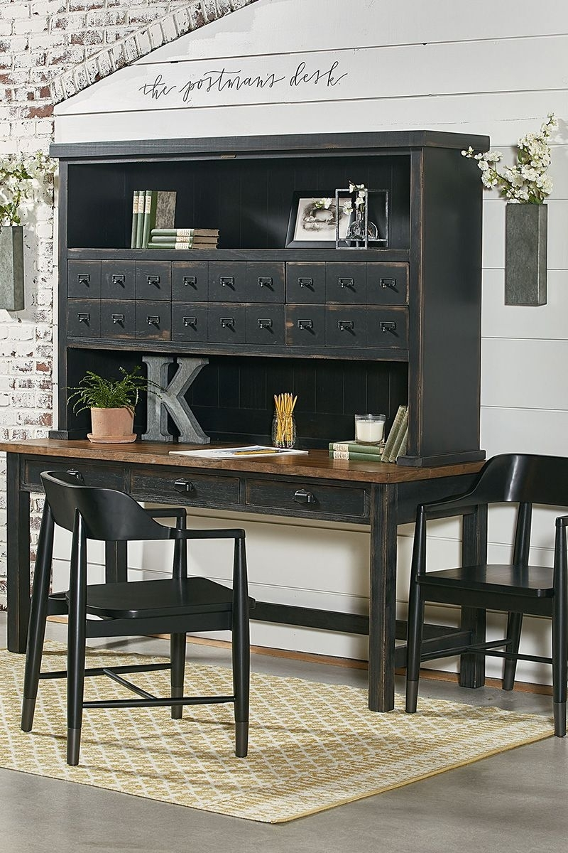 Industrial Postman's Desk And Hutch | Rustic Farmhouse | Pinterest Pertaining To 2018 Magnolia Home Array Dining Tables By Joanna Gaines (Image 11 of 20)