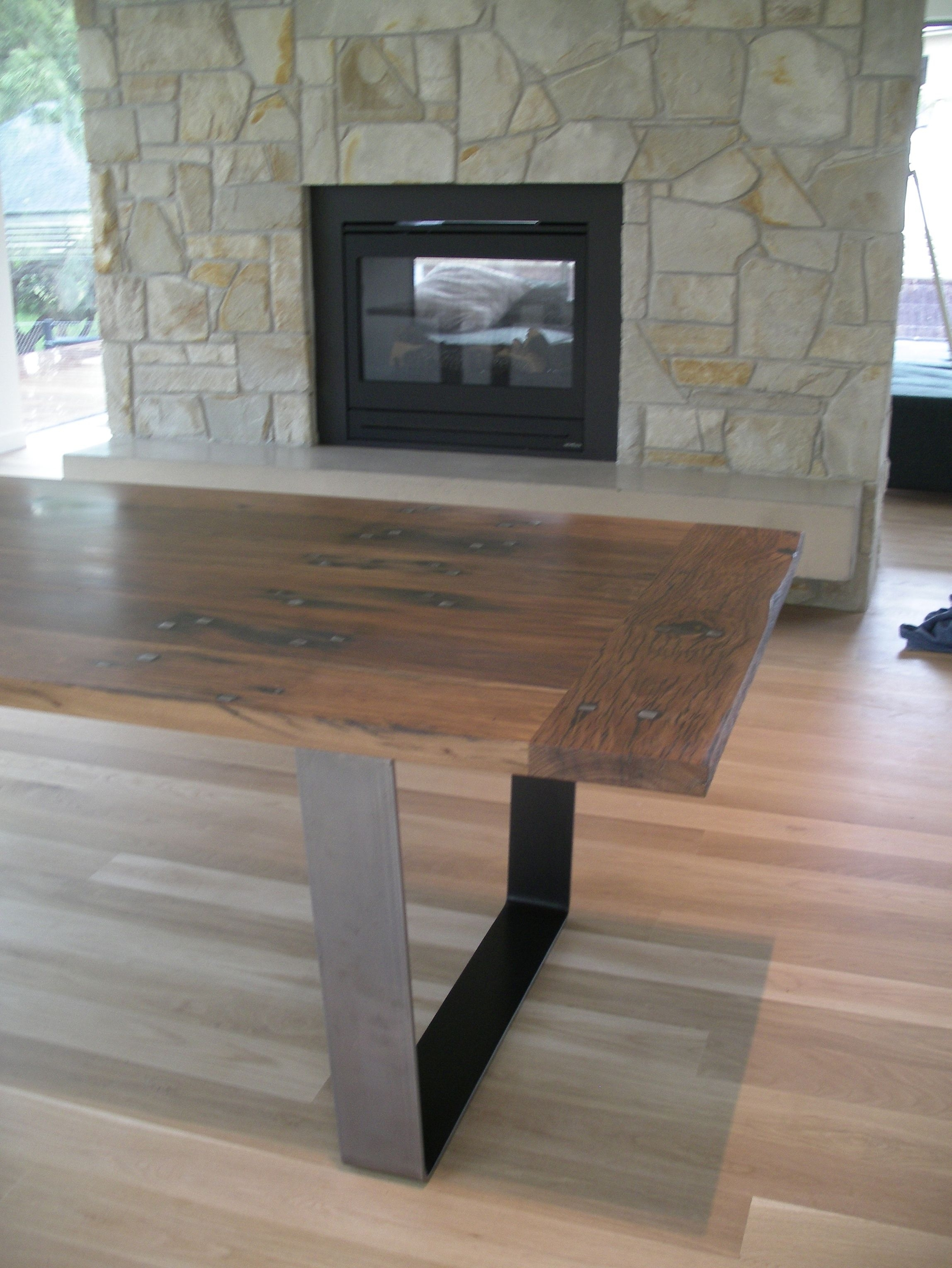 Industrial Style Dining Table Made From Recycled Railway Sleepers With Best And Newest Natural Wood & Recycled Elm 87 Inch Dining Tables (Image 8 of 20)