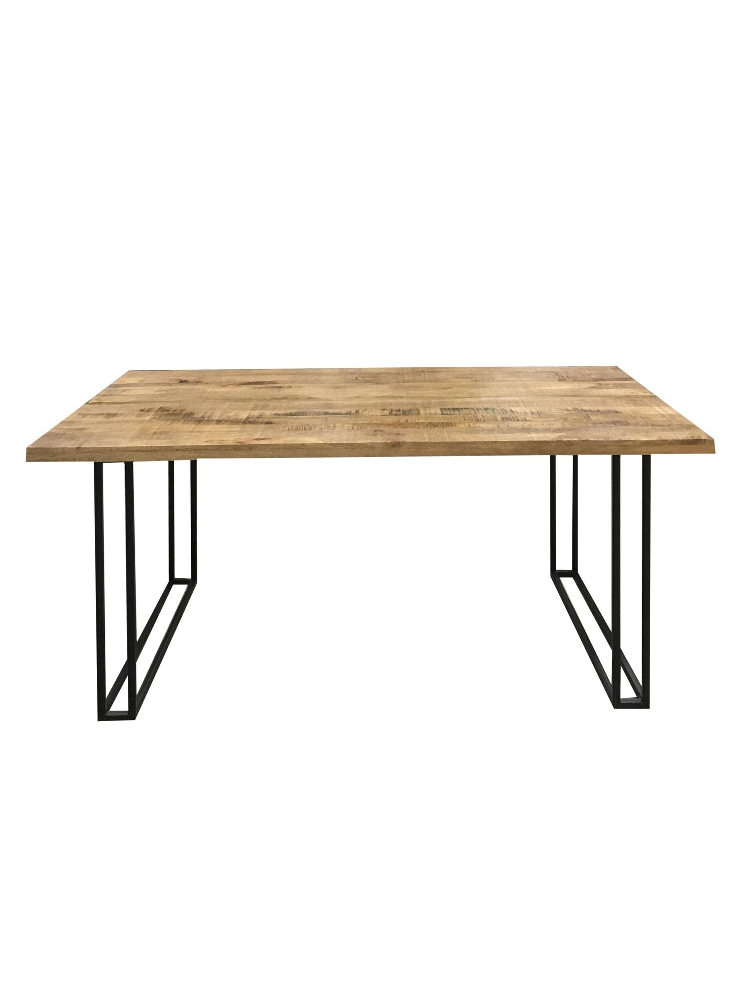 Industrial Style Large 175 Cm Light Mango Wood Dining Table With With Regard To Most Up To Date Mango Wood/iron Dining Tables (Image 7 of 20)