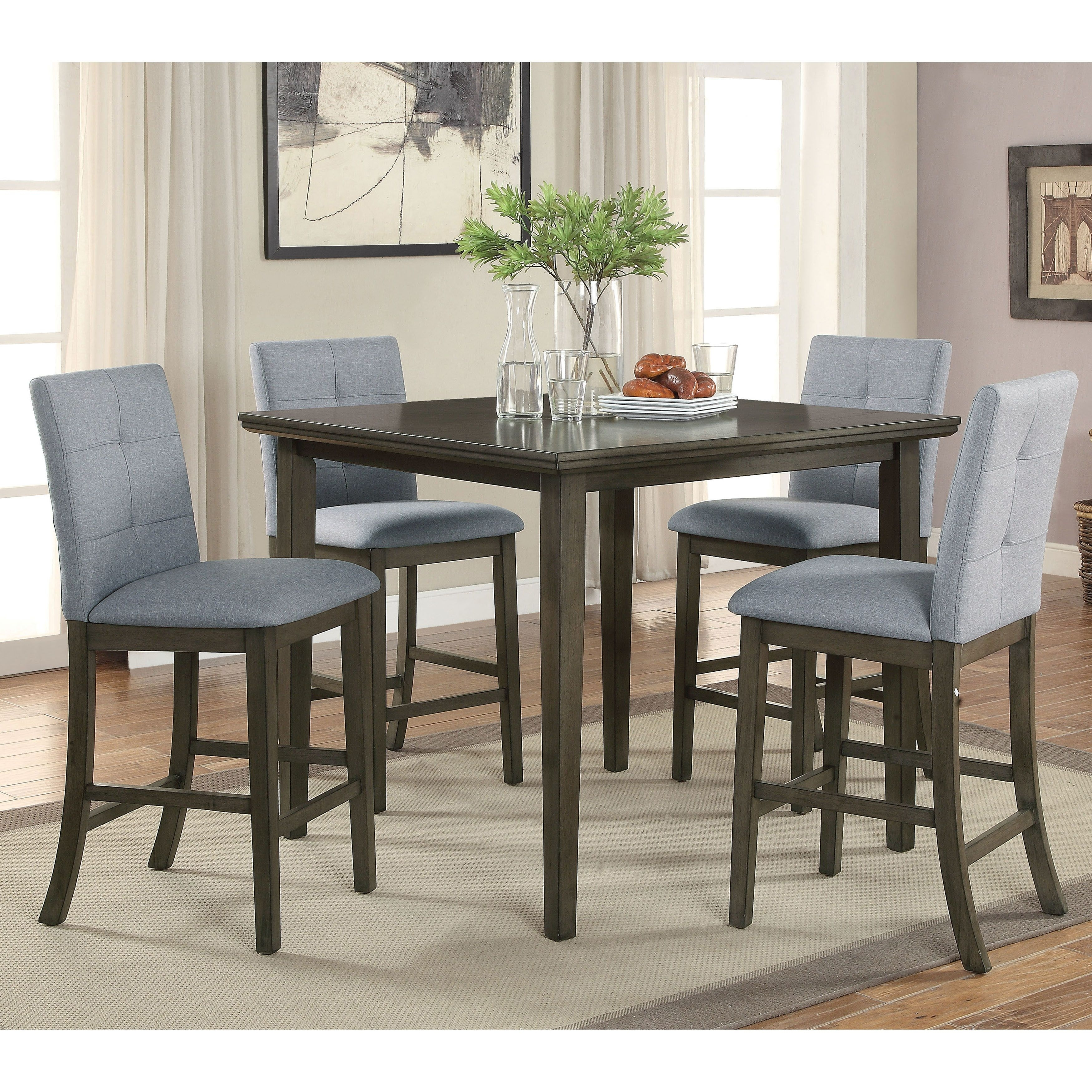 Infini Furnishings Kellie 6 Piece Dining Set With Recent Jameson Grey 5 Piece Counter Sets (Photo 12 of 20)