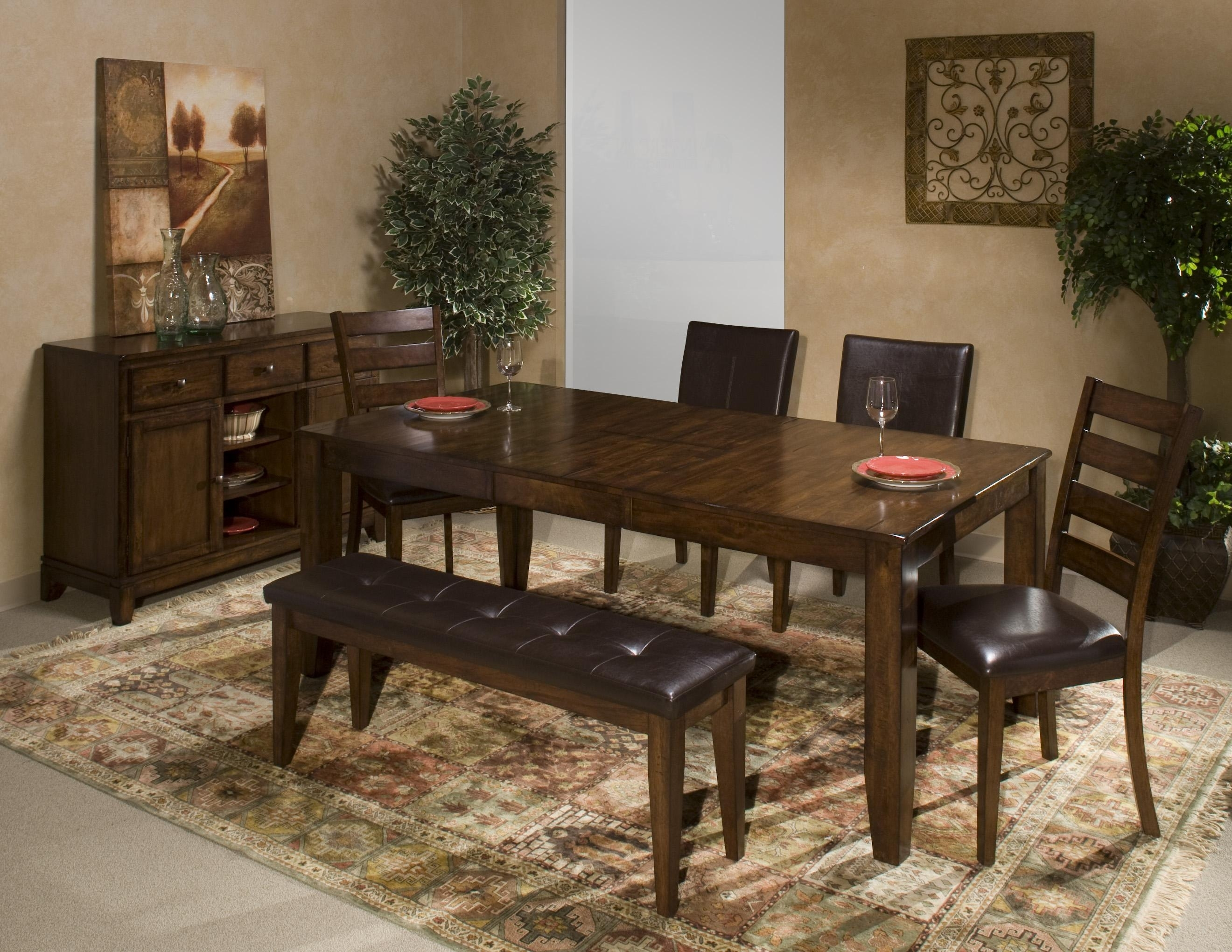Intercon Kona Counter Height Table With Leaf | Wayside Furniture Intended For Most Up To Date Market 6 Piece Dining Sets With Host And Side Chairs (View 11 of 20)