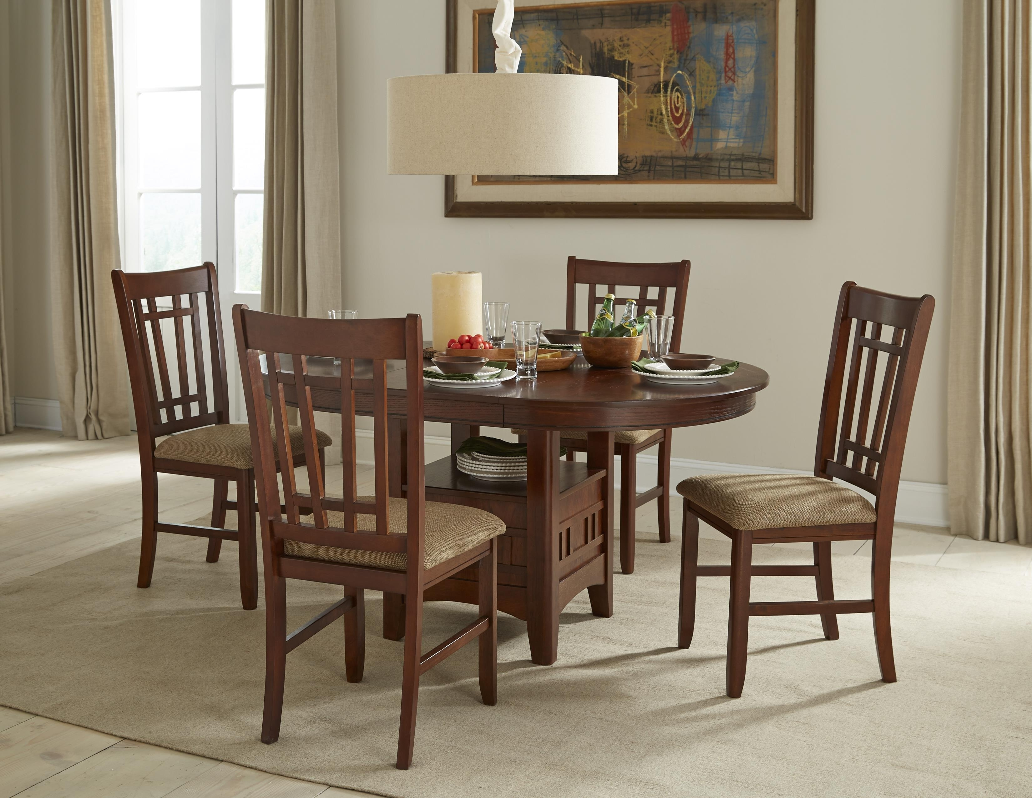 Intercon Mission Casuals 5 Piece Gathering Set | Wayside Furniture Regarding Most Recent Market 5 Piece Counter Sets (Image 16 of 20)