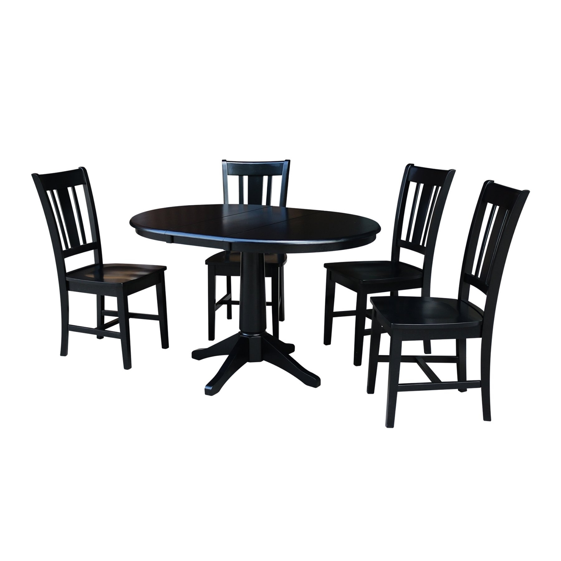 International Concepts 5 Piece Dining Table Set With Extension Leaf Pertaining To Current Kirsten 5 Piece Dining Sets (Image 11 of 20)