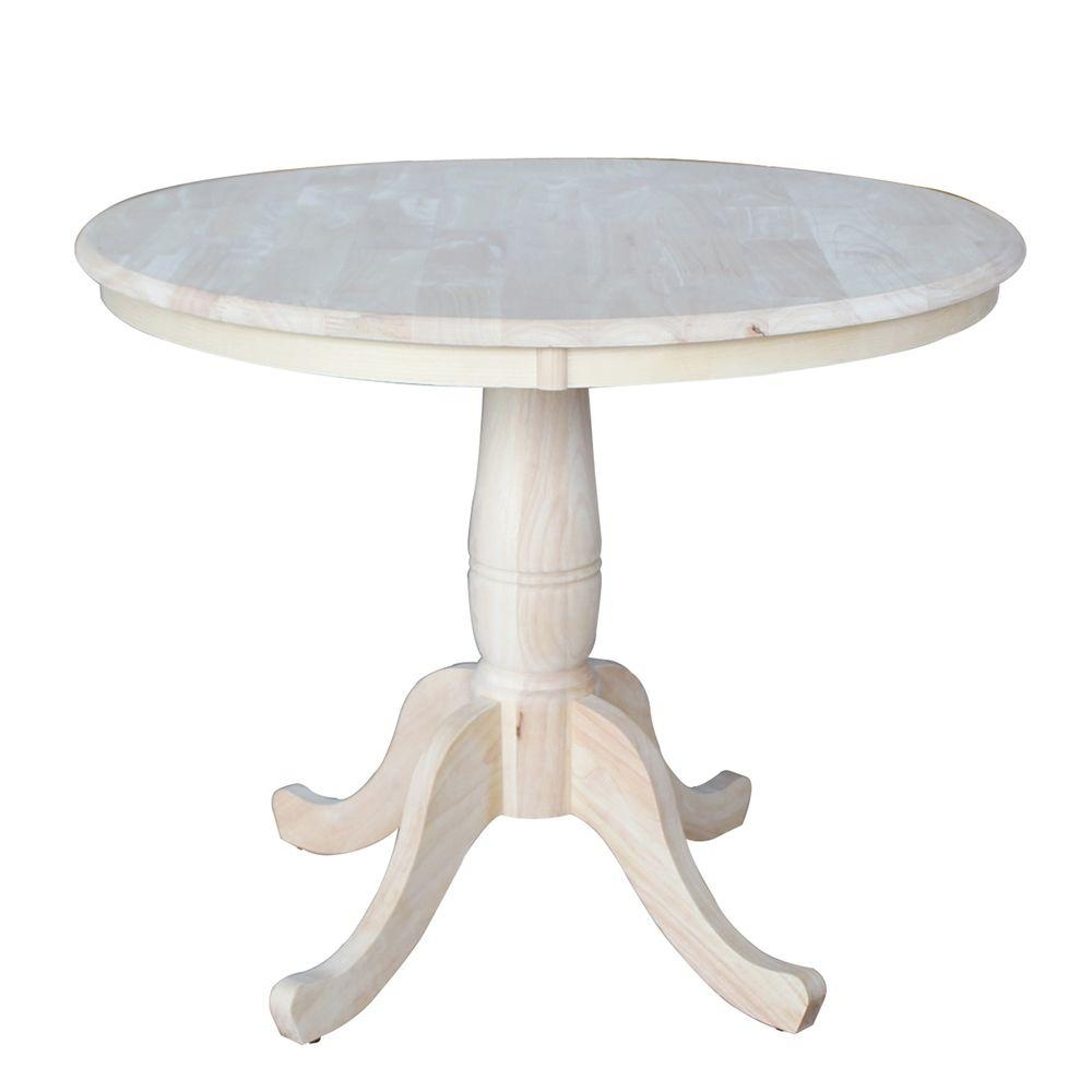 International Concepts Unfinished Pedestal Dining Table K 36Rt – The Intended For Most Up To Date Carly Rectangle Dining Tables (Image 14 of 20)