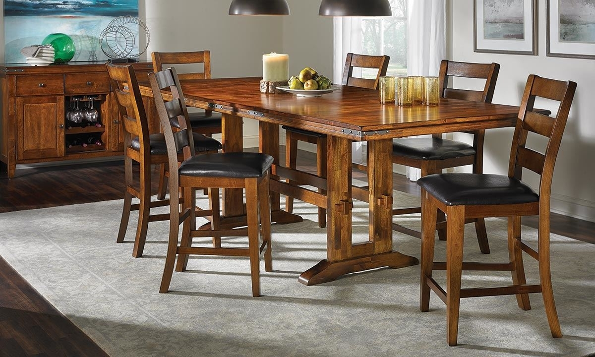 Iron Strap Solid Mango Counter Height Dining Set | Haynes Furniture With Regard To 2017 Mango Wood/iron Dining Tables (Image 8 of 20)