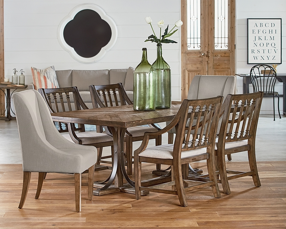 Iron Trestle Dining Table – Magnolia Home Intended For Most Recently Released Magnolia Home Sawbuck Dining Tables (Image 3 of 20)