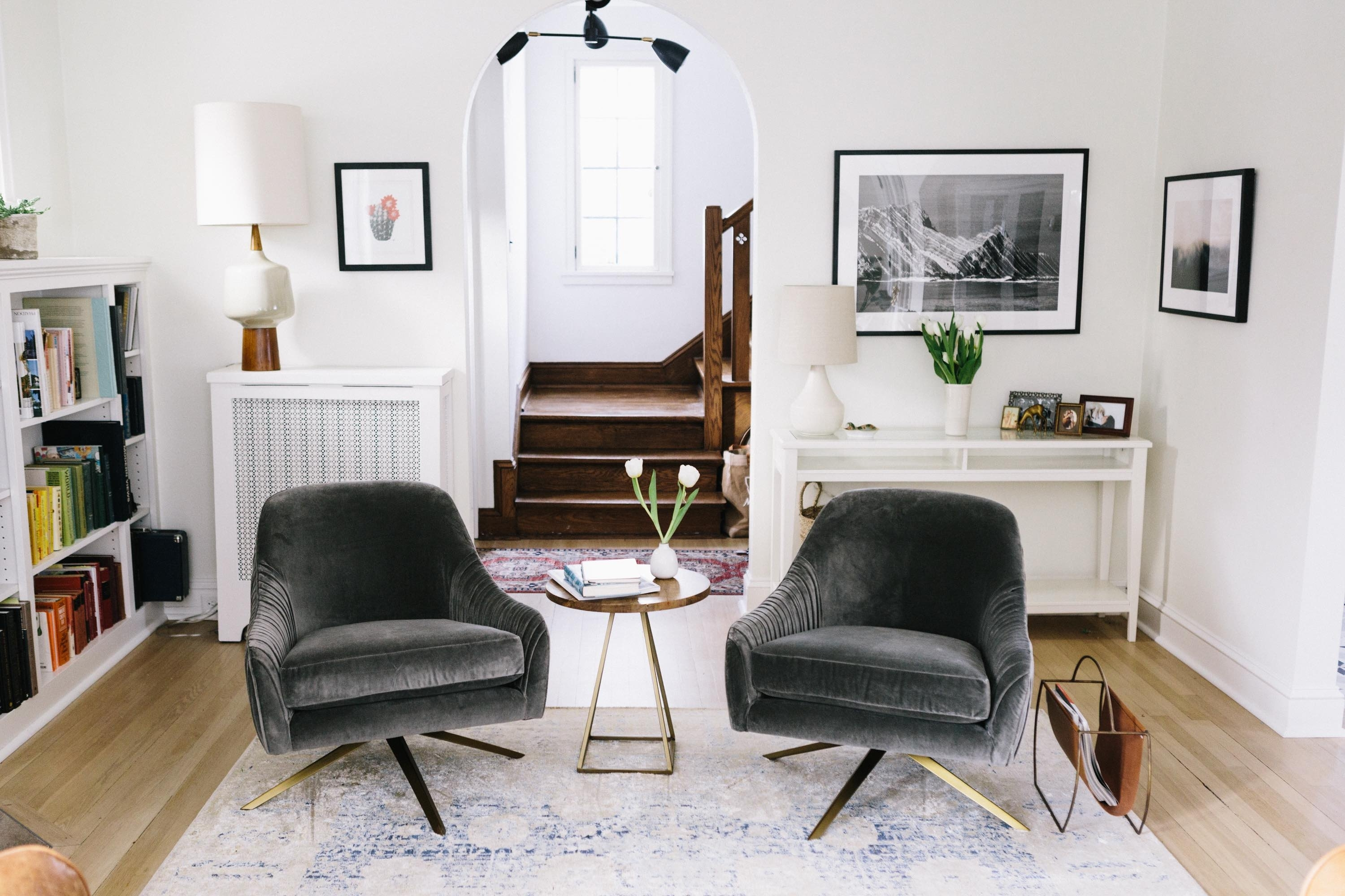 It Takes Two, Or A West Elm Roar + Rabbit Giveaway – Wit & Delight Within Current Weaver Dark 7 Piece Dining Sets With Alexa White Side Chairs (Image 11 of 20)