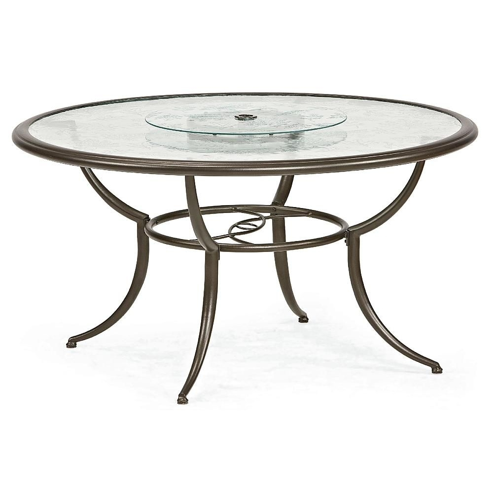 Jaclyn Smith Cora Dining Table With Lazy Susan – Outdoor Living Regarding Best And Newest Cora Dining Tables (Photo 6 of 20)