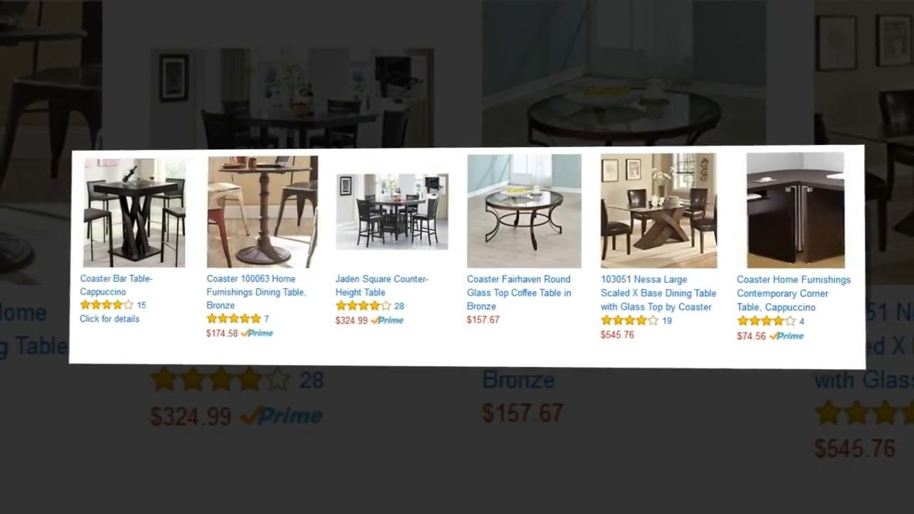 Jaclyn Smith Cora Dining Table With Lazy Susan – Youtube Within 2017 Cora Dining Tables (View 19 of 20)