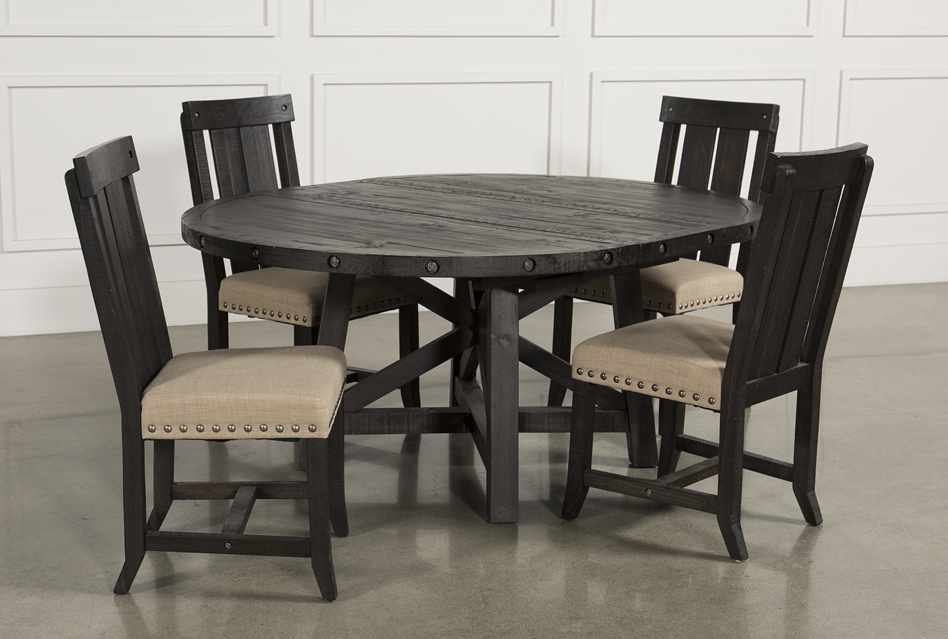 Jaxon 5 Piece Extension Round Dining Set W/wood Chairs | Products For Recent Jaxon 5 Piece Extension Round Dining Sets With Wood Chairs (Image 9 of 20)
