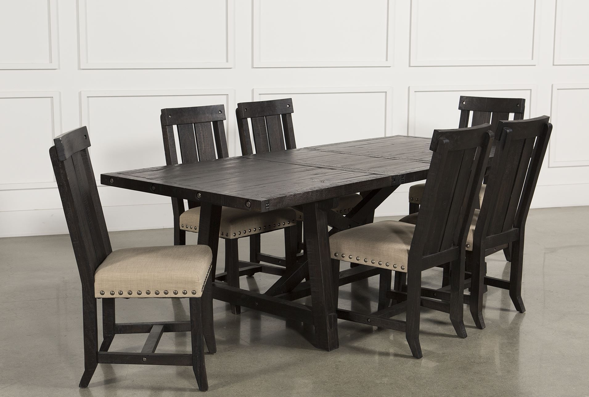 Jaxon 7 Piece Rectangle Dining Set W/wood Chairs | Home, Future Home In Recent Partridge 7 Piece Dining Sets (View 14 of 20)