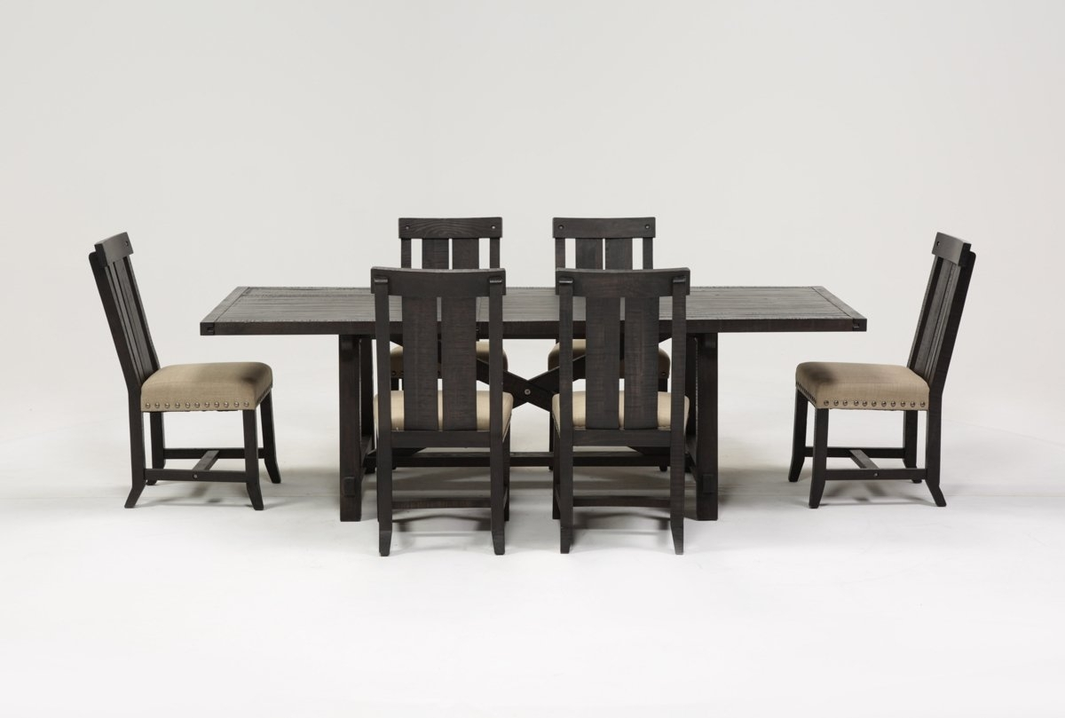 Jaxon 7 Piece Rectangle Dining Set W/wood Chairs | Living Spaces For Most Recently Released Jaxon 7 Piece Rectangle Dining Sets With Upholstered Chairs (Image 11 of 20)