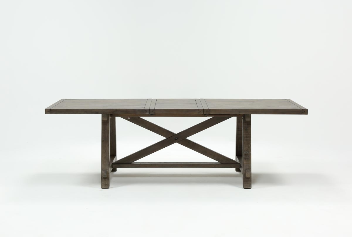 Jaxon Grey Rectangle Extension Dining Table | Living Spaces Regarding Recent Jaxon Grey Round Extension Dining Tables (Image 14 of 20)
