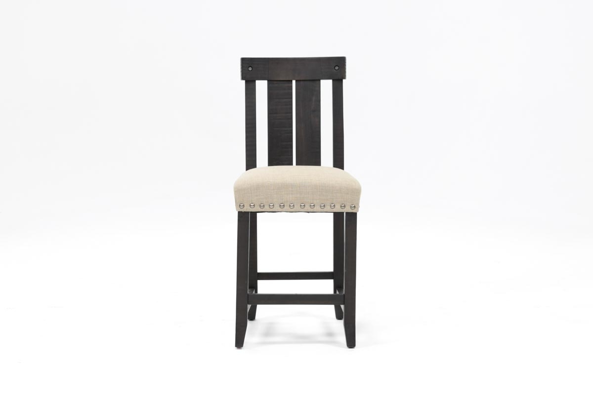 Jaxon Wood Counterstool | Living Spaces Inside Most Recently Released Washed Old Oak & Waxed Black Legs Bar Tables (View 19 of 20)