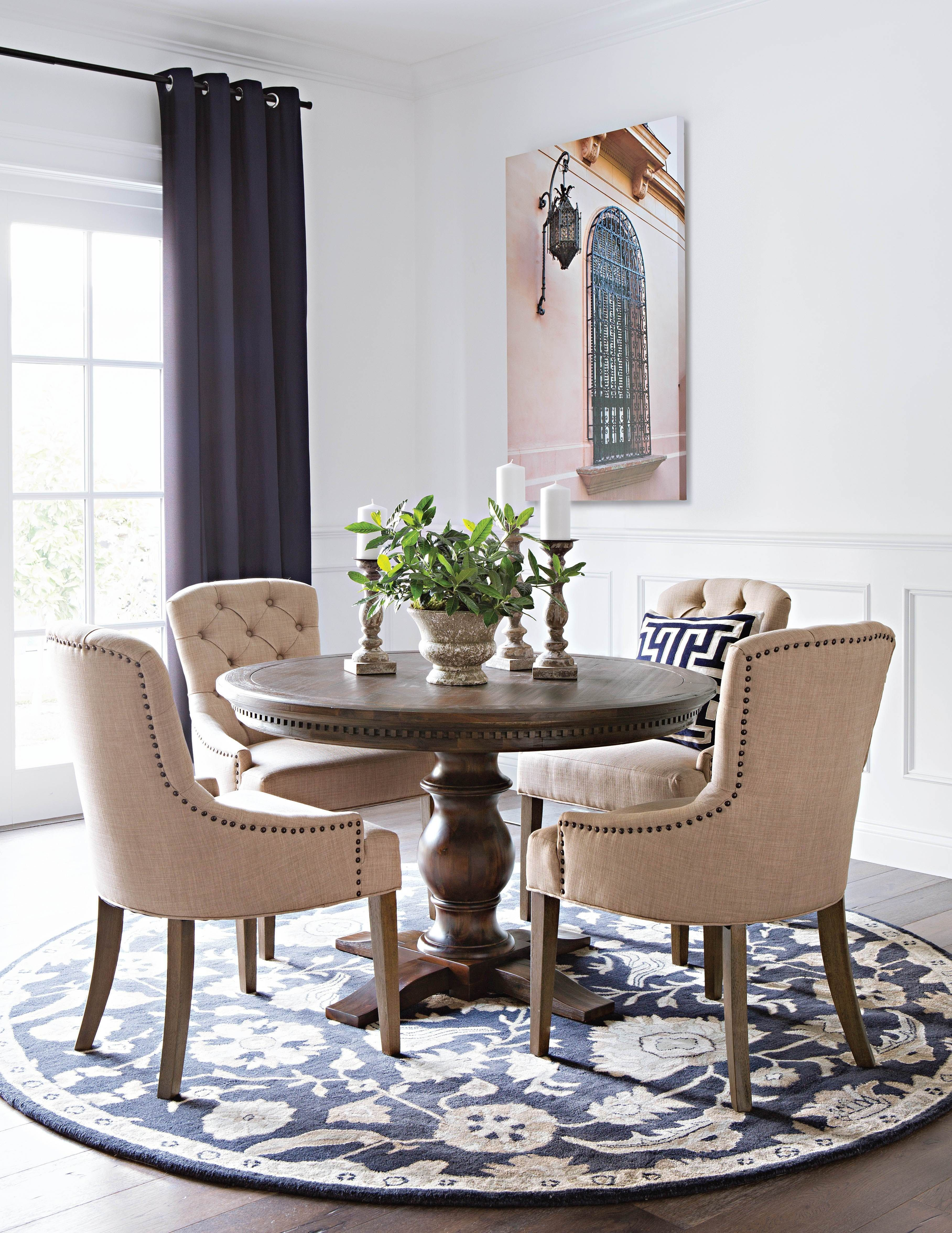 Jefferson 5 Piece Extension Round Dining Set, Brown | Pinterest With Regard To Most Up To Date Jefferson Extension Round Dining Tables (Image 9 of 20)