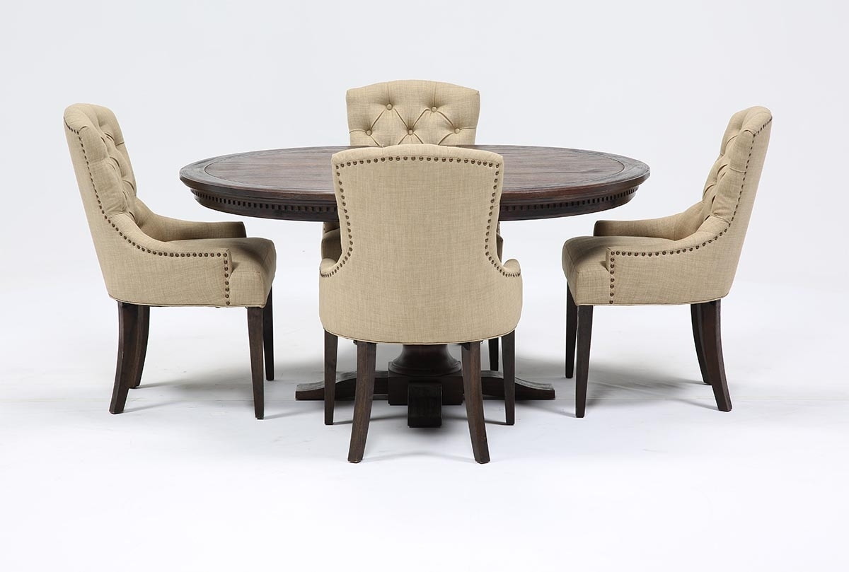 Jefferson 5 Piece Extension Round Dining Set | Living Spaces Inside Newest Jefferson Extension Round Dining Tables (Photo 3 of 20)