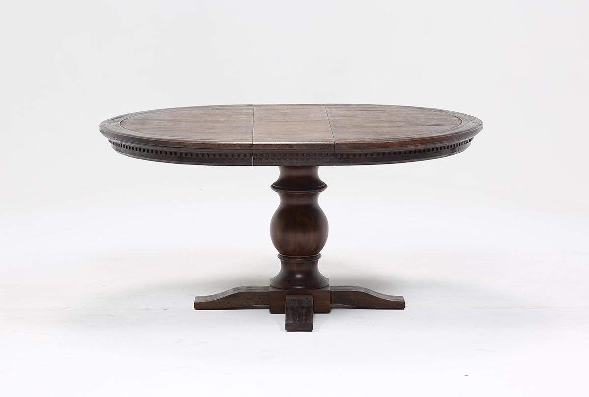 Jefferson Extension Round Dining Table | Living Spaces For Newest Jefferson Extension Round Dining Tables (Photo 1 of 20)